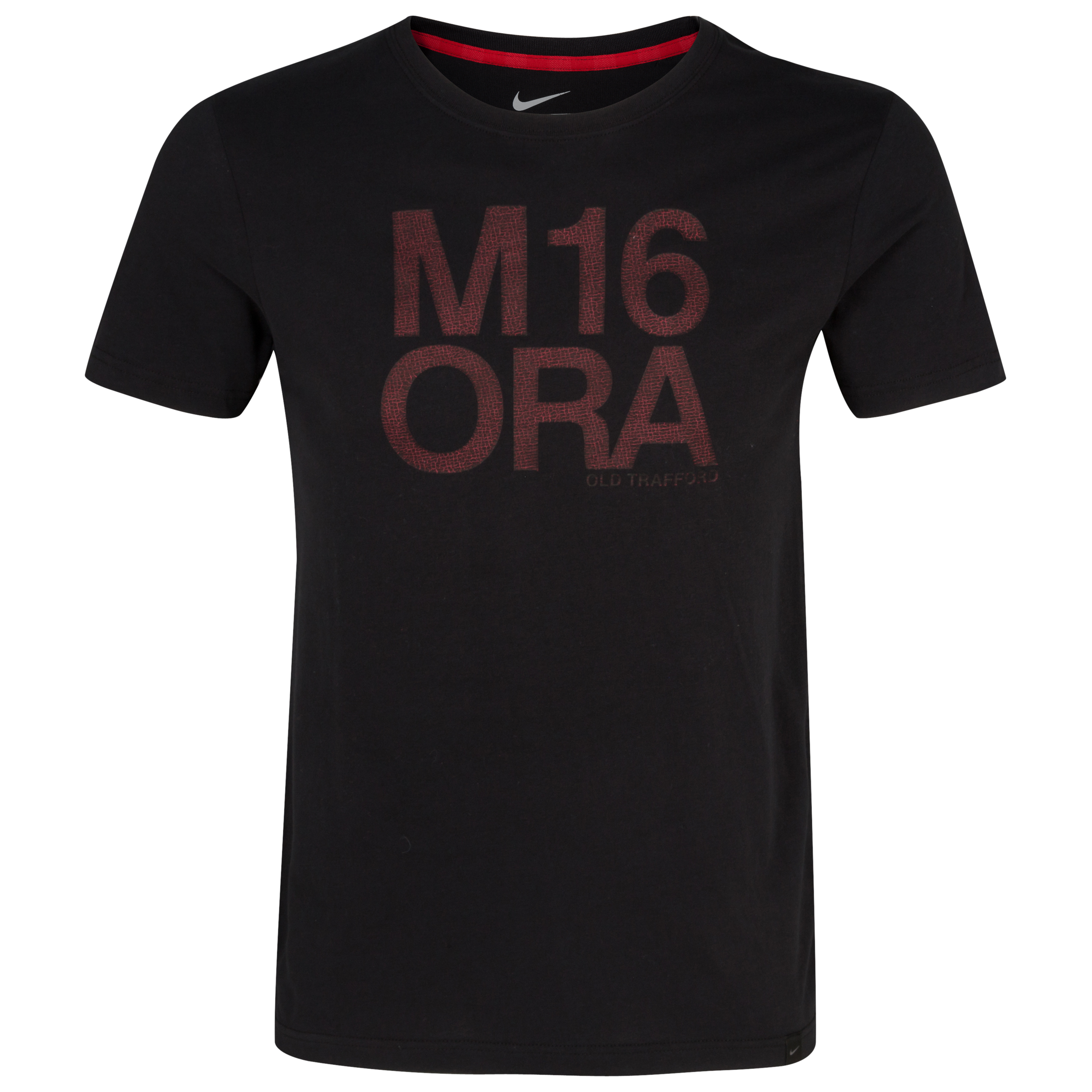 Manchester United Authentic T-Shirt - Black/Diablo Red