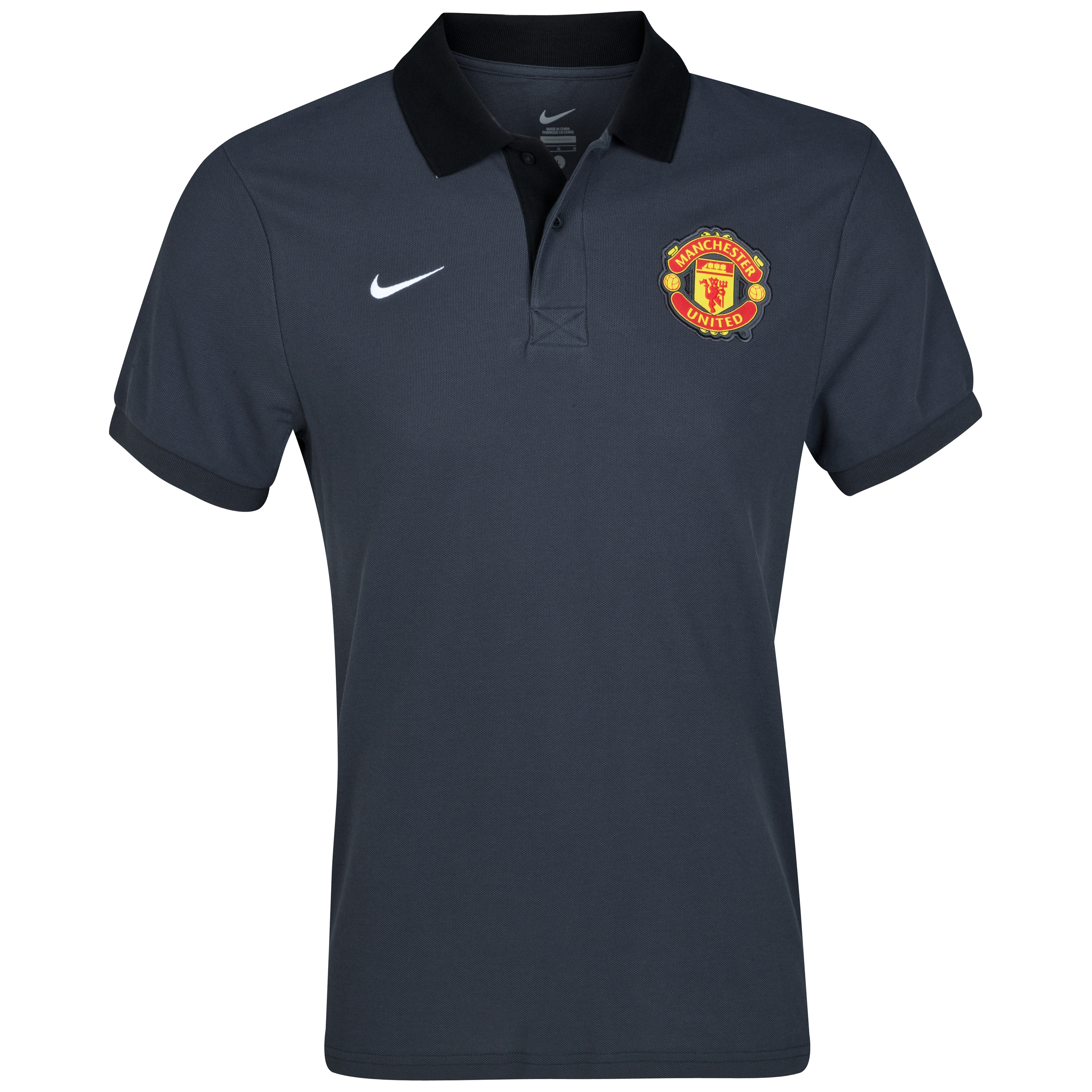 Manchester United Core Polo - Anthracite/White