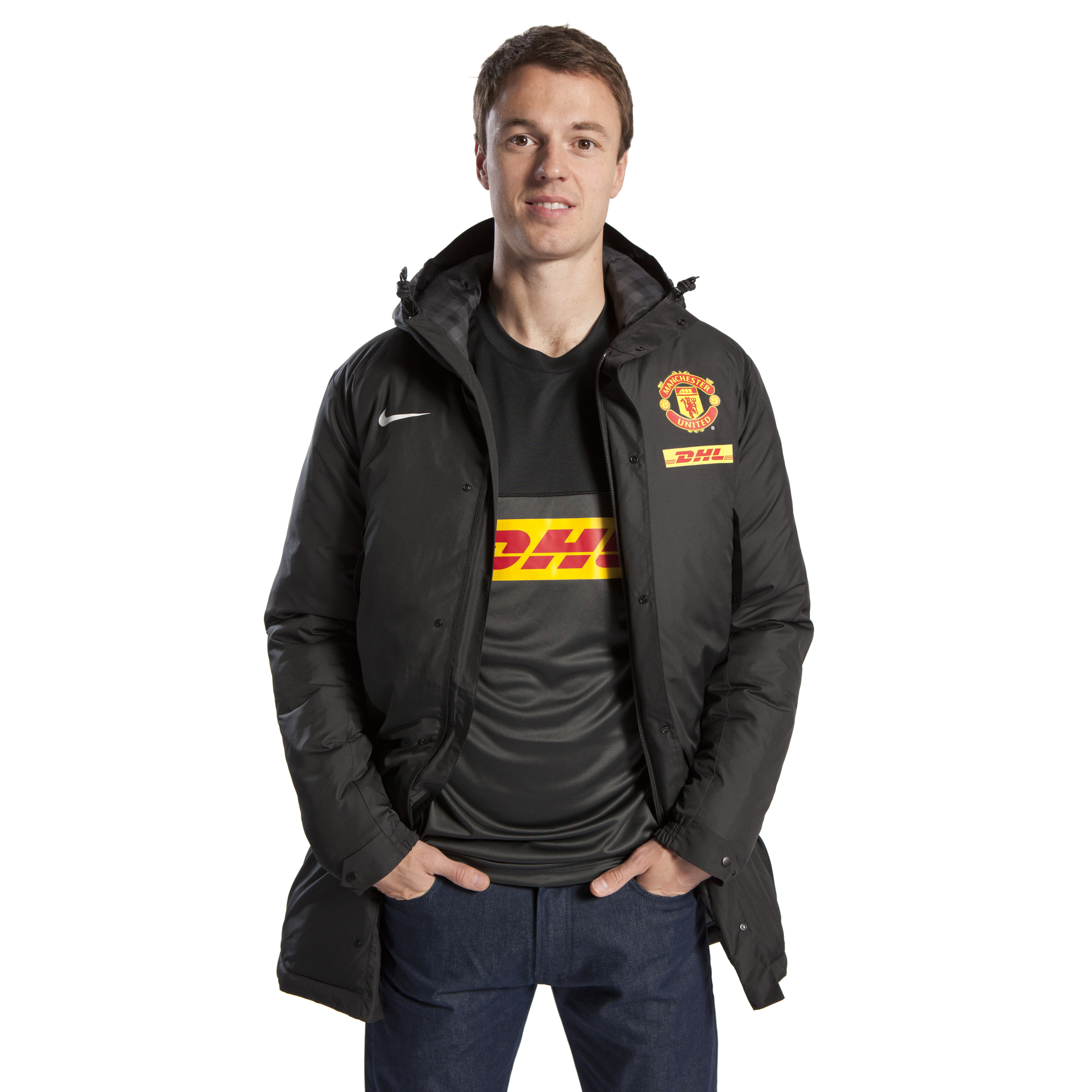 Manchester United Parka Jacket - Black/White