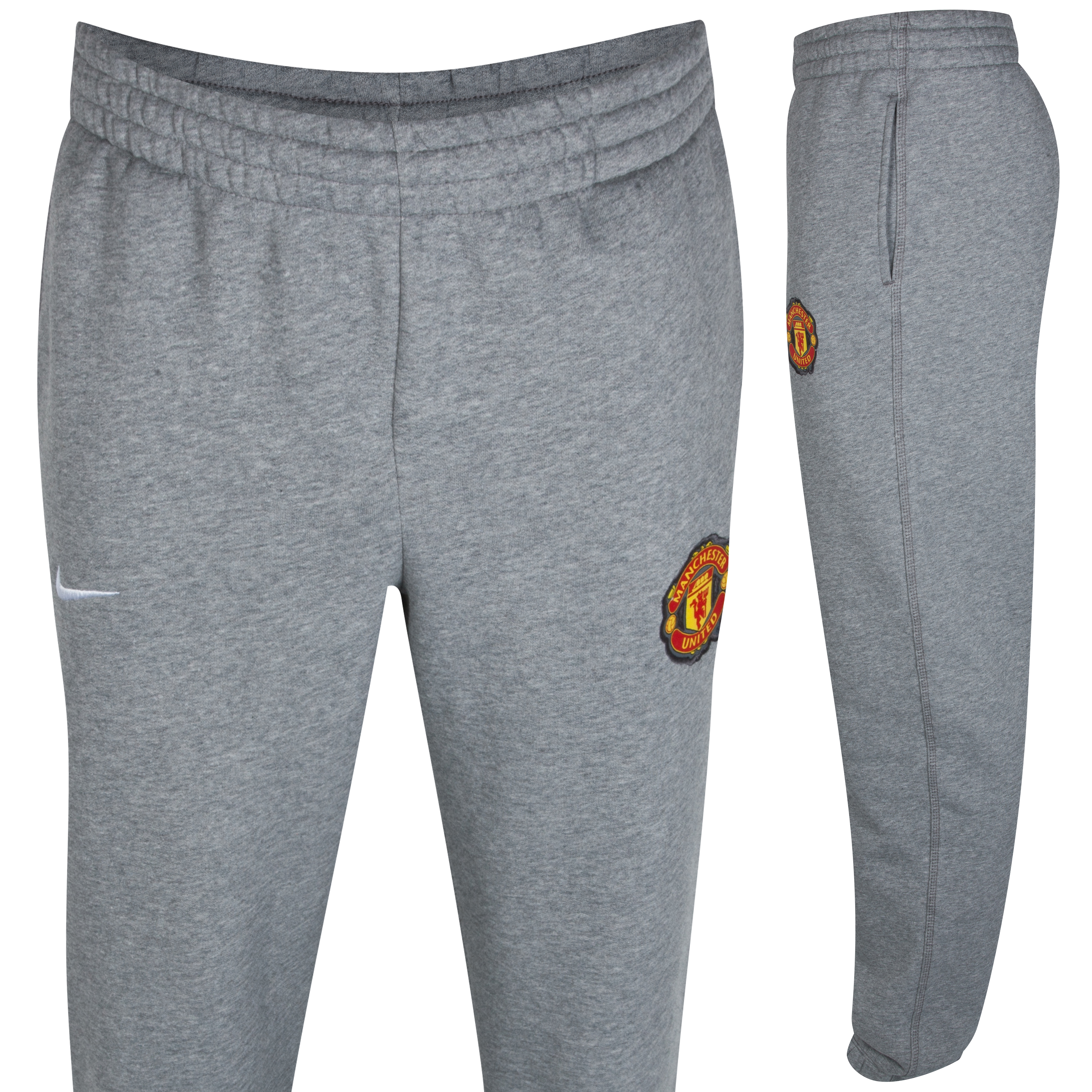 Manchester United Core Fleece Cuff Pant - Carbon Heather/White