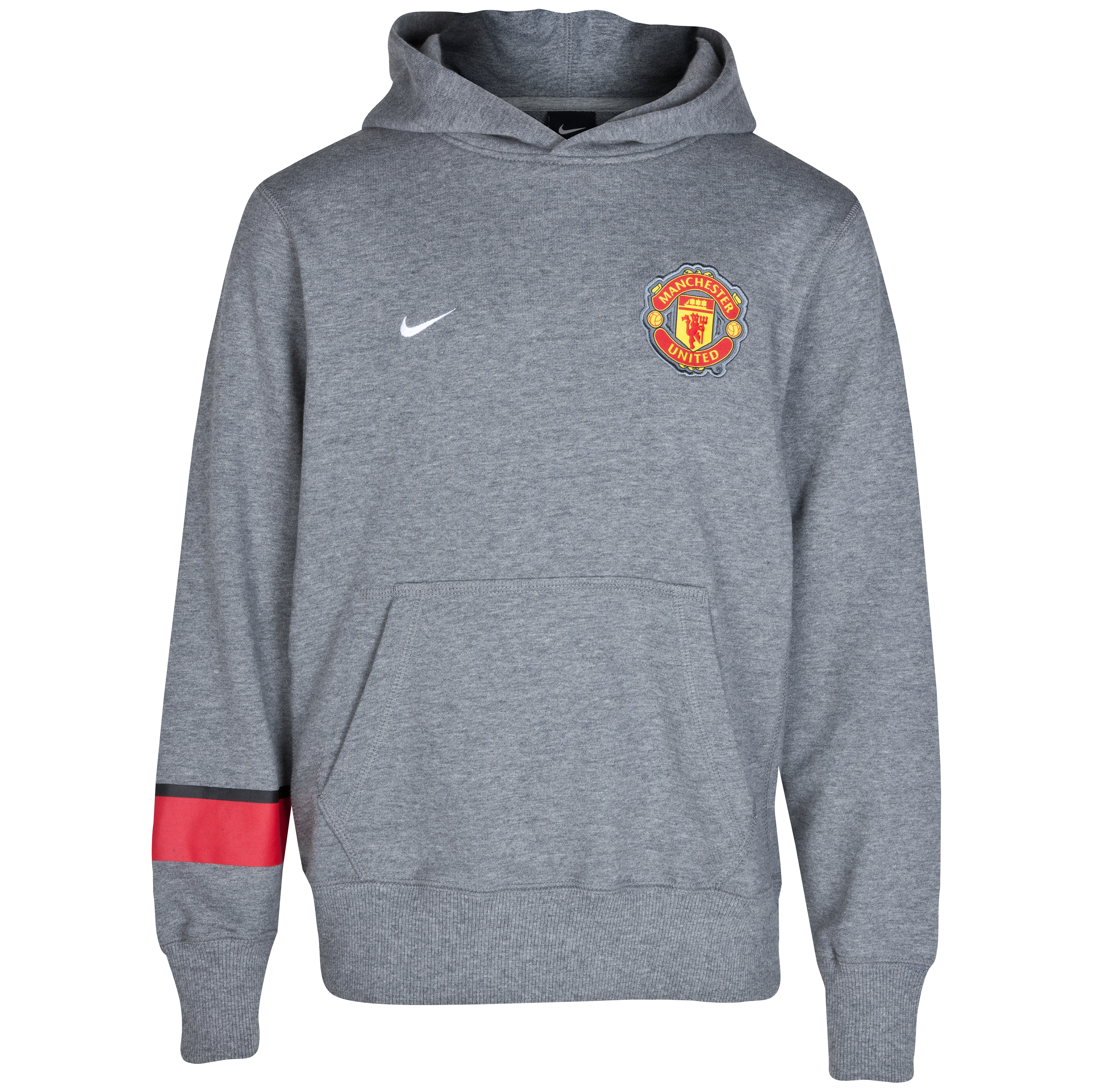 Manchester United Core Hoodie - Carbon Heather/White - Kids