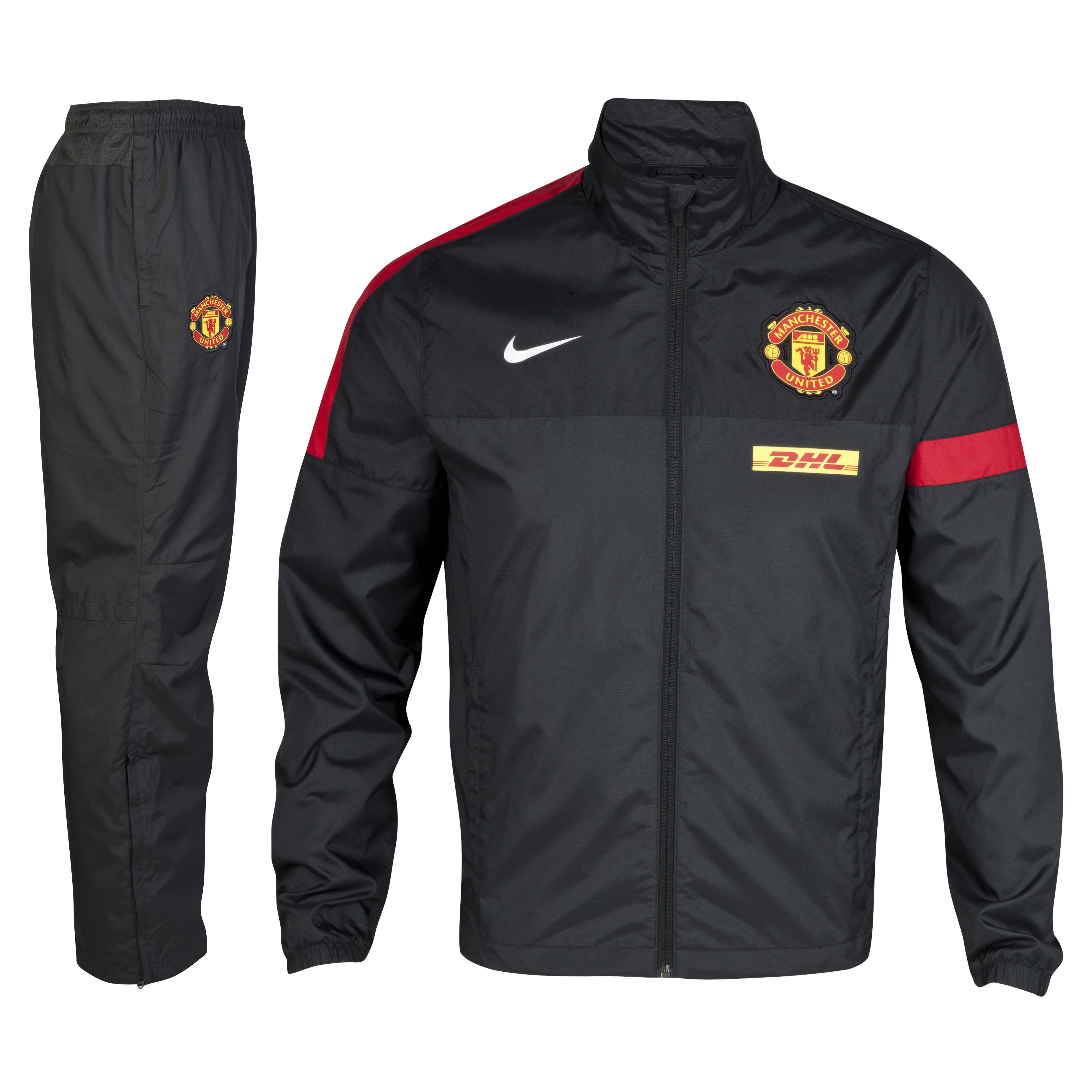 Manchester United Sideline Warm-up Woven Tracksuit - Anthracite/Black/Diablo Red/White - Kids