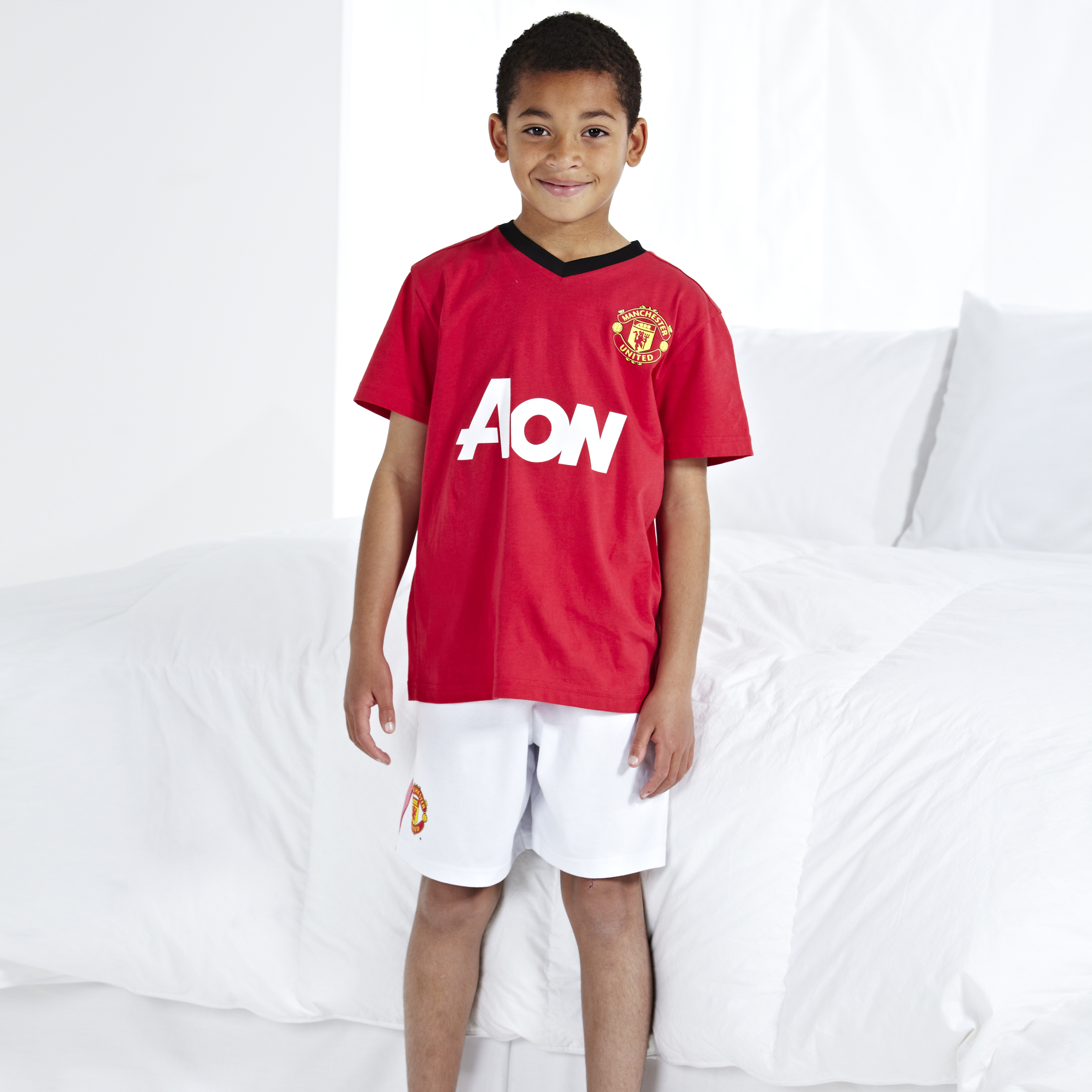 Manchester United Home Kit Pyjamas - Red - Boys