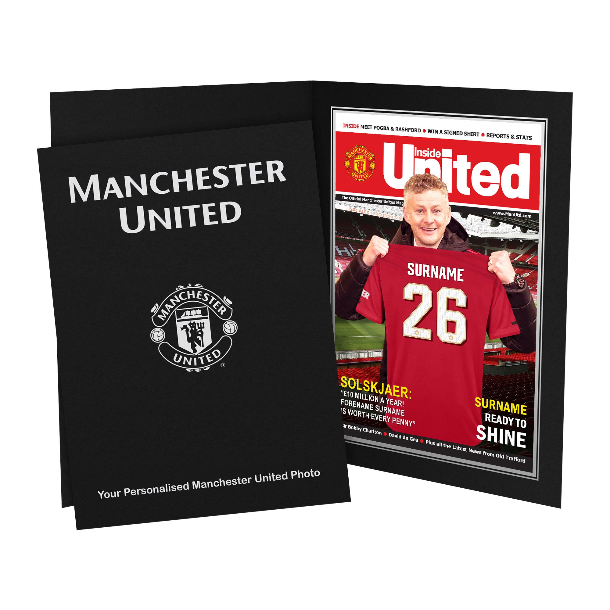 Manchester United Personalised Magazine Cover in Presentation Folder