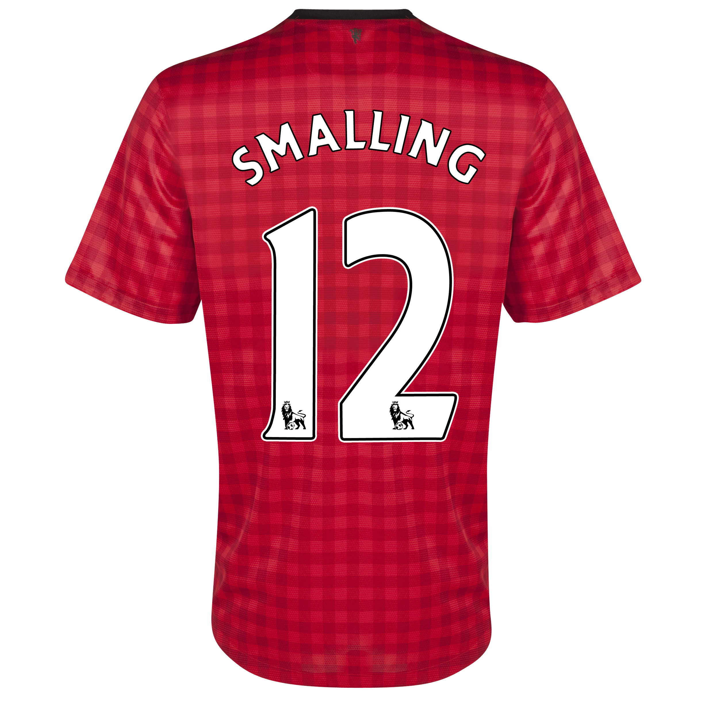 Manchester United Home Shirt 2012/13 with Smalling 12 printing
