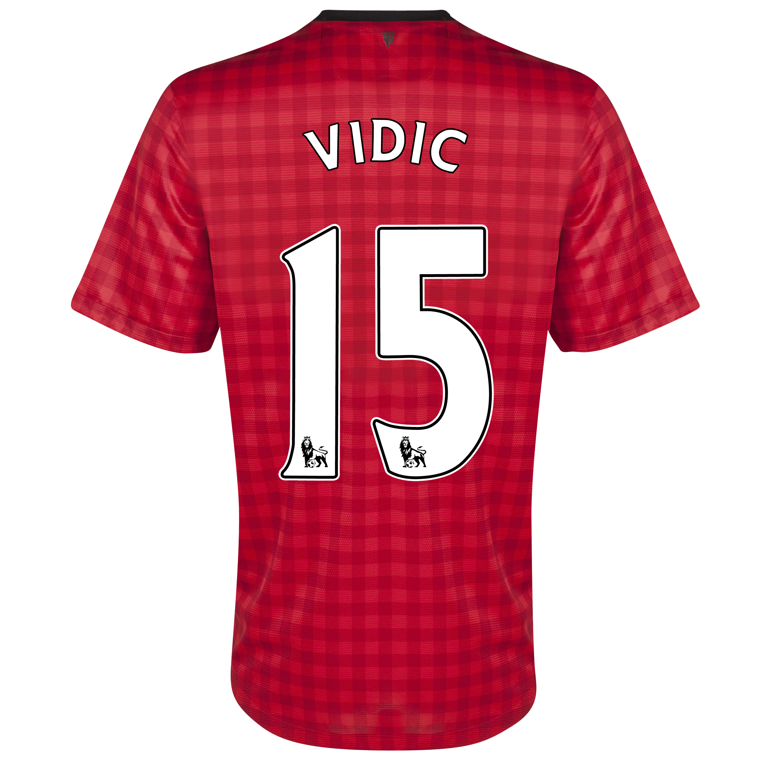 Manchester United Home Shirt 2012/13 with Vidic 15 printing