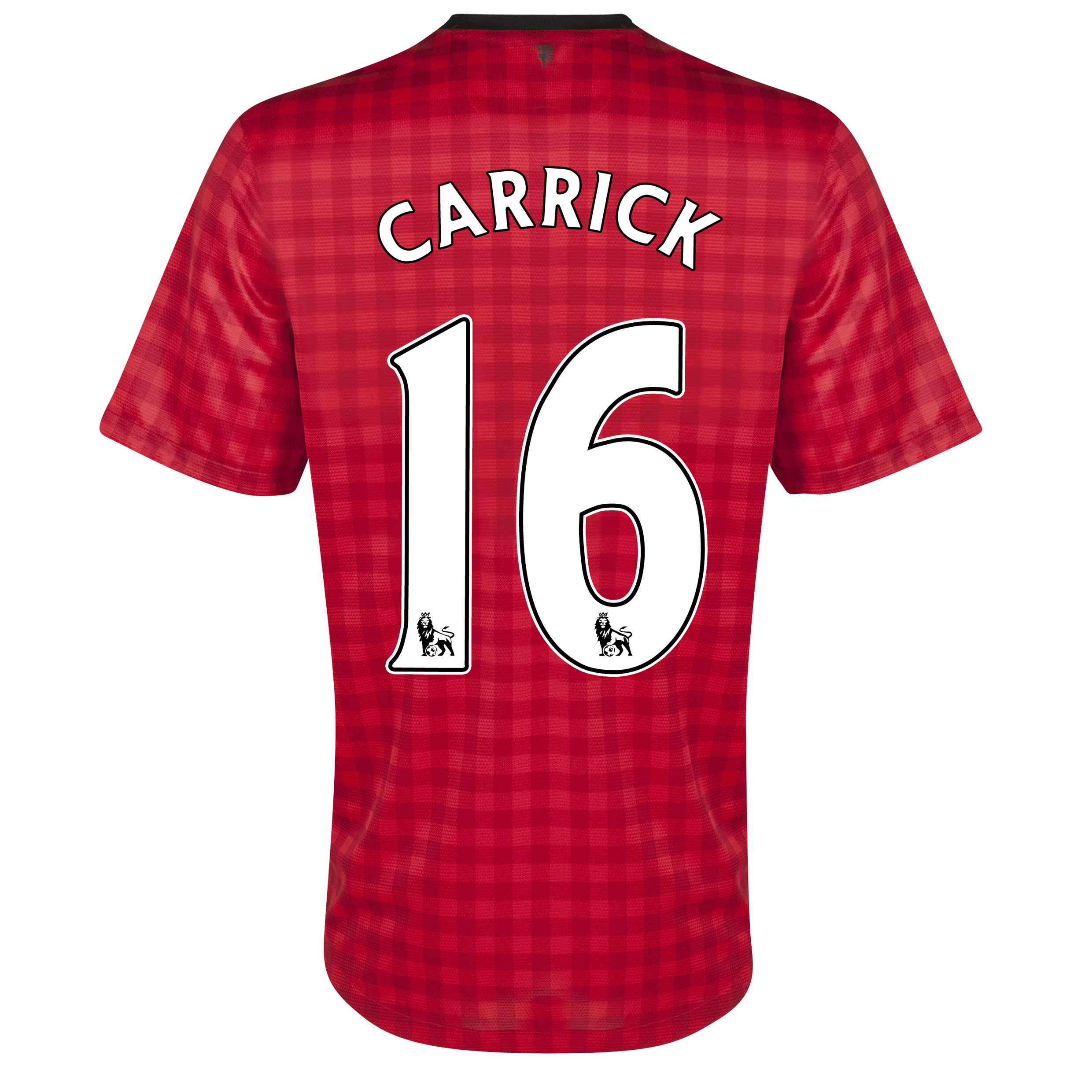 Manchester United Home Shirt 2012/13 with Carrick 16 printing
