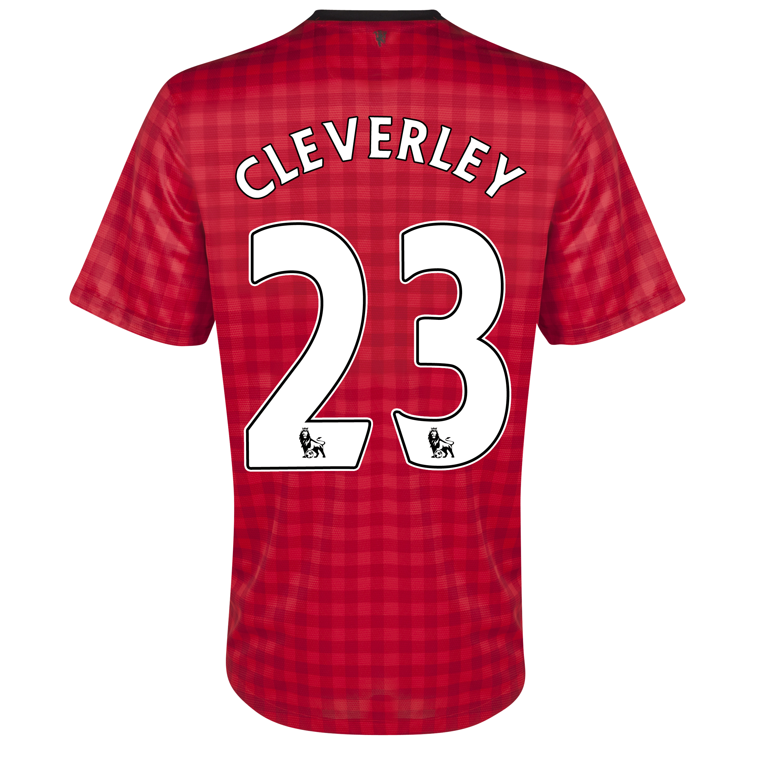 Manchester United Home Shirt 2012/13 with Cleverley 23 printing