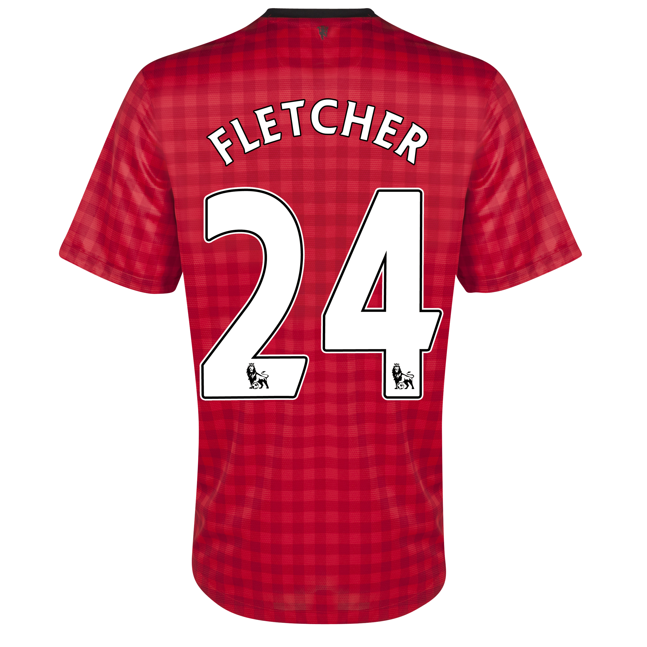 Manchester United Home Shirt 2012/13 with Fletcher 24 printing