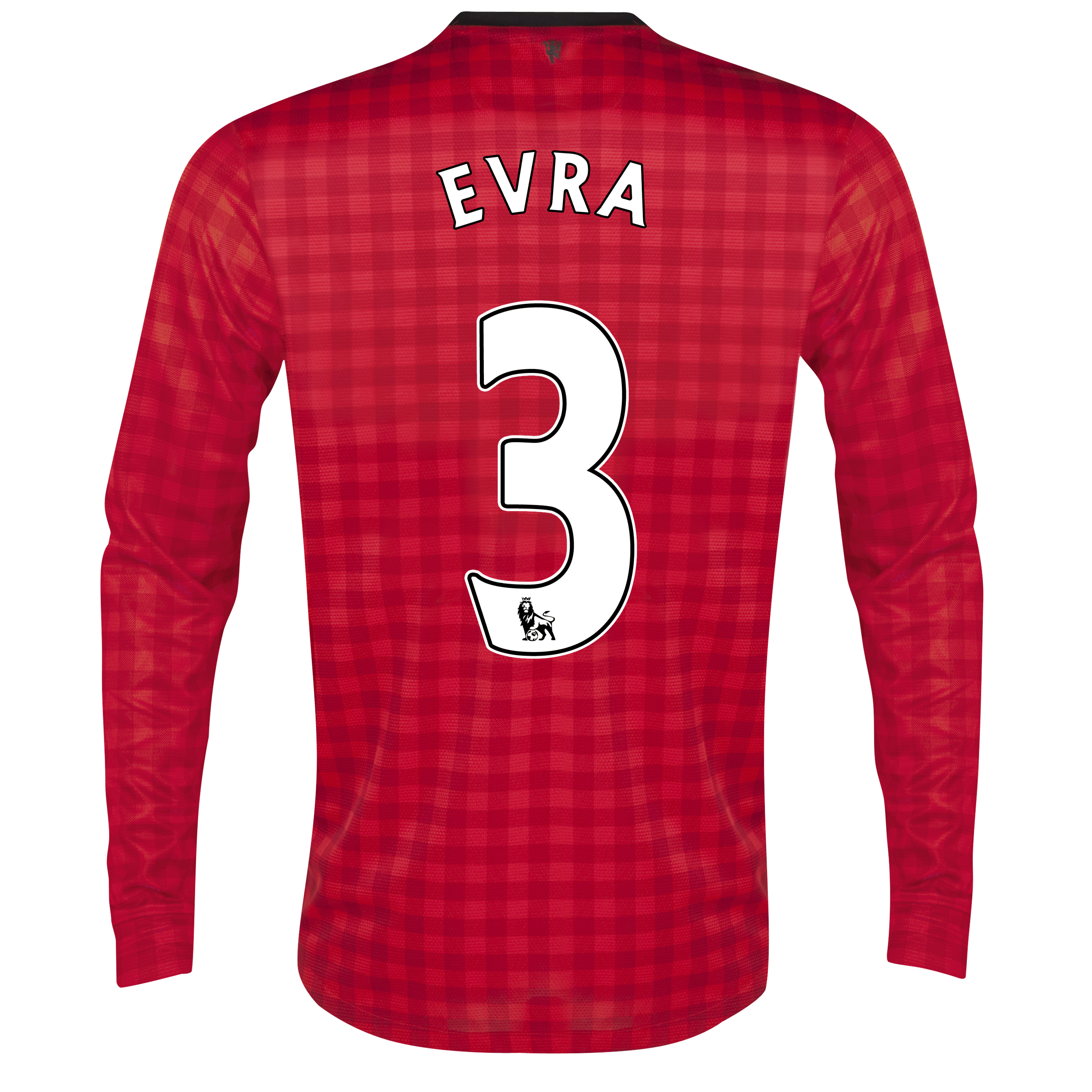 Manchester United Home Shirt 2012/13 - Long Sleeved with Evra 3 printing