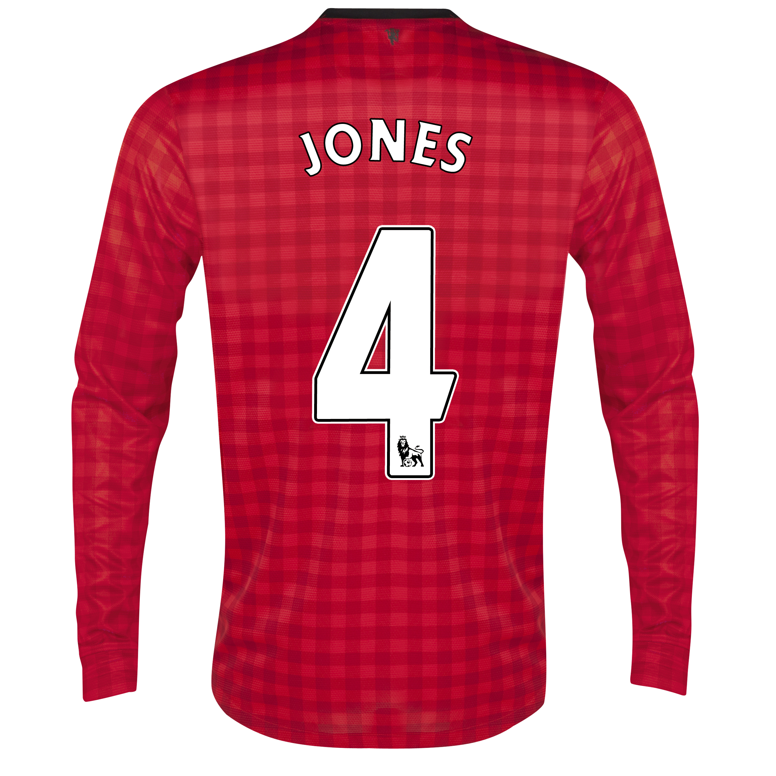 Manchester United Home Shirt 2012/13 - Long Sleeved with Jones 4 printing