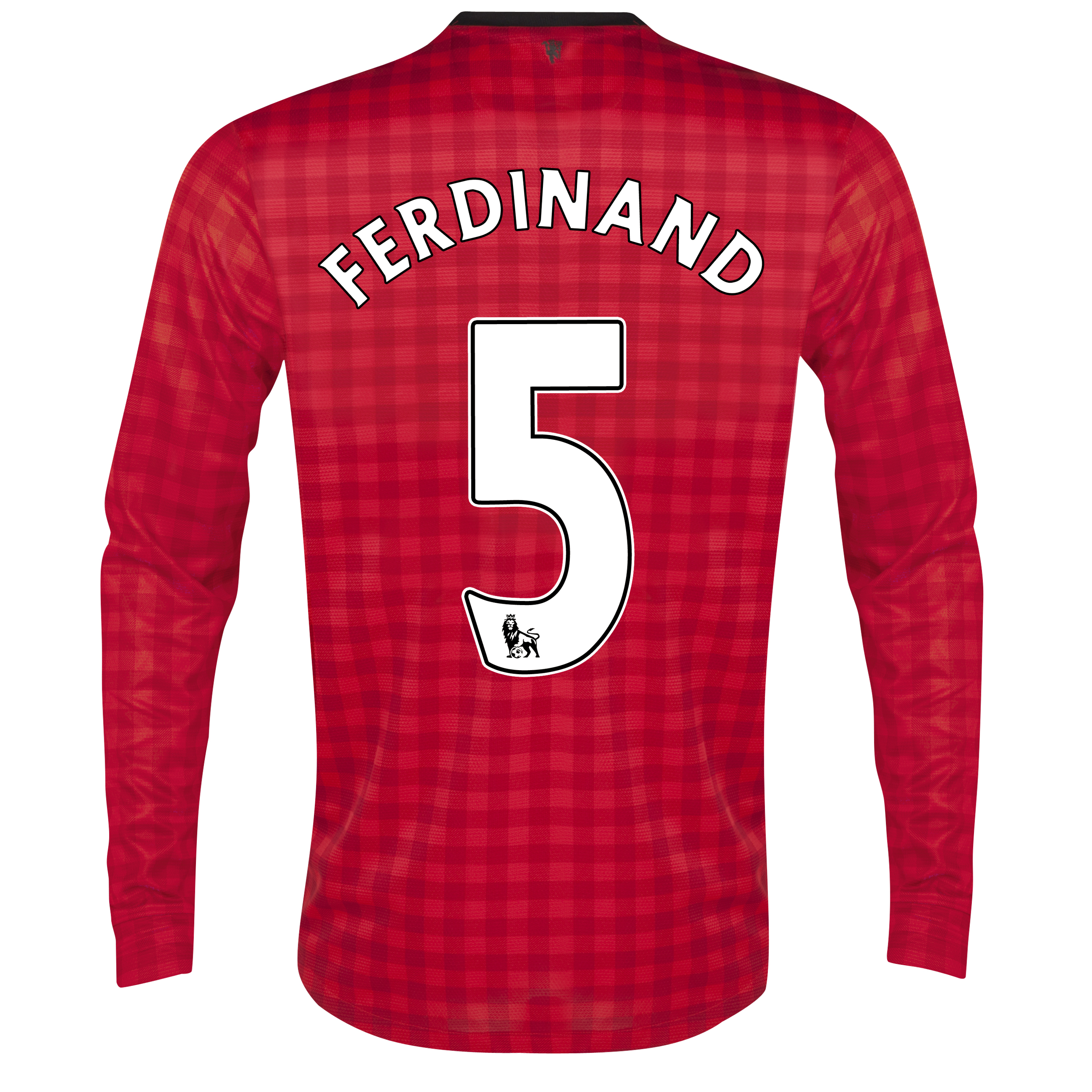 Manchester United Home Shirt 2012/13 - Long Sleeved with Ferdinand 5 printing