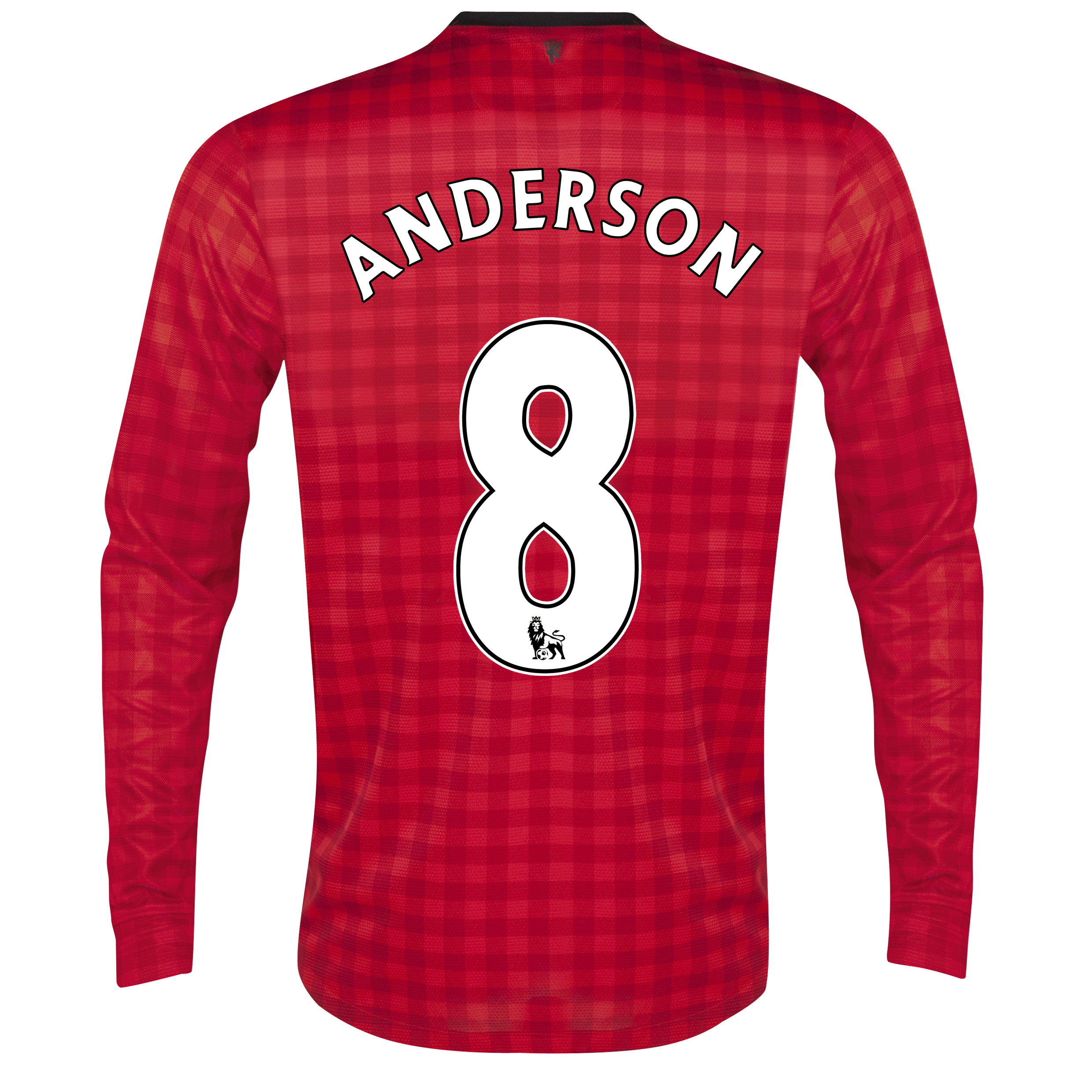Manchester United Home Shirt 2012/13 - Long Sleeved with Anderson 8 printing
