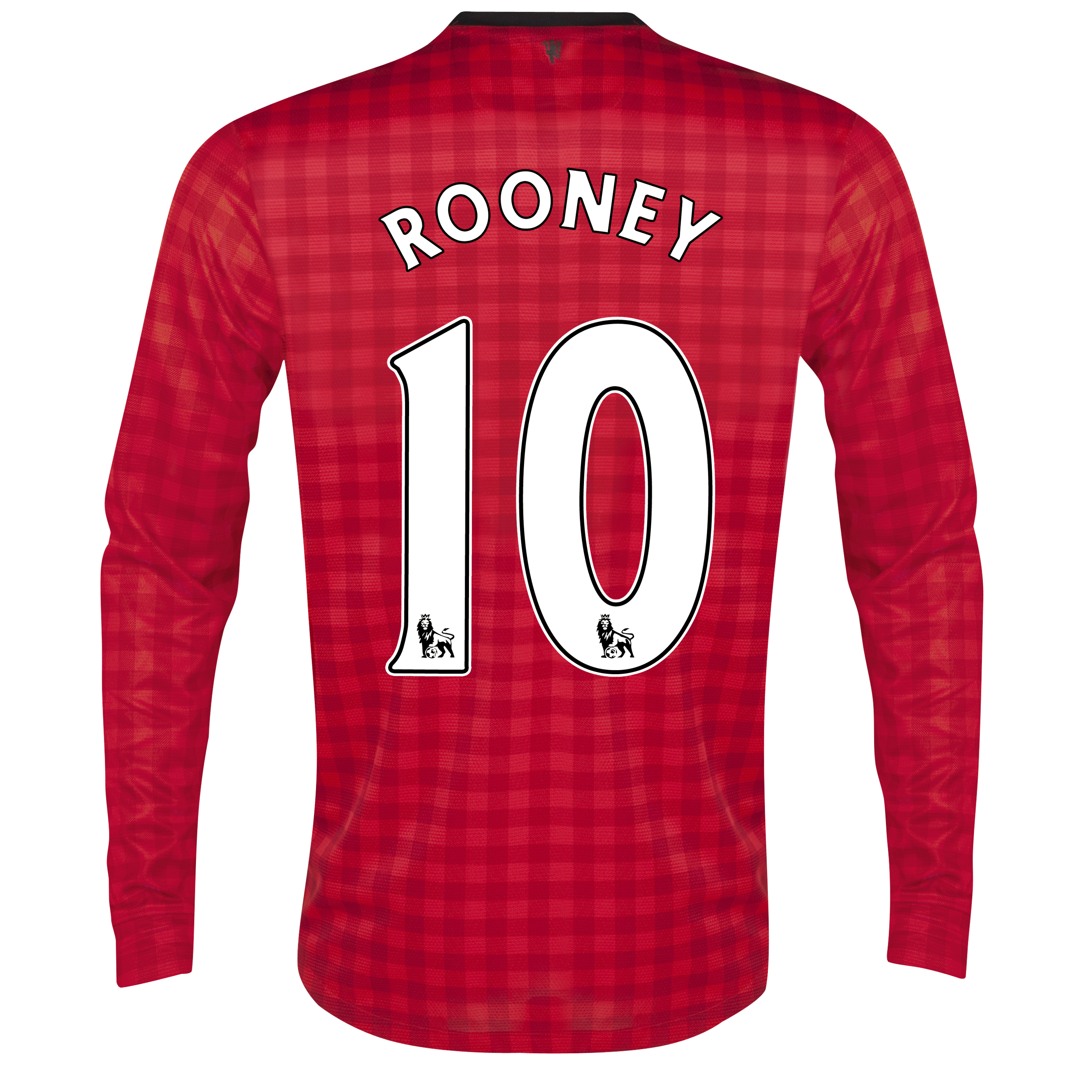 Manchester United Home Shirt 2012/13 - Long Sleeved with Rooney 10 printing