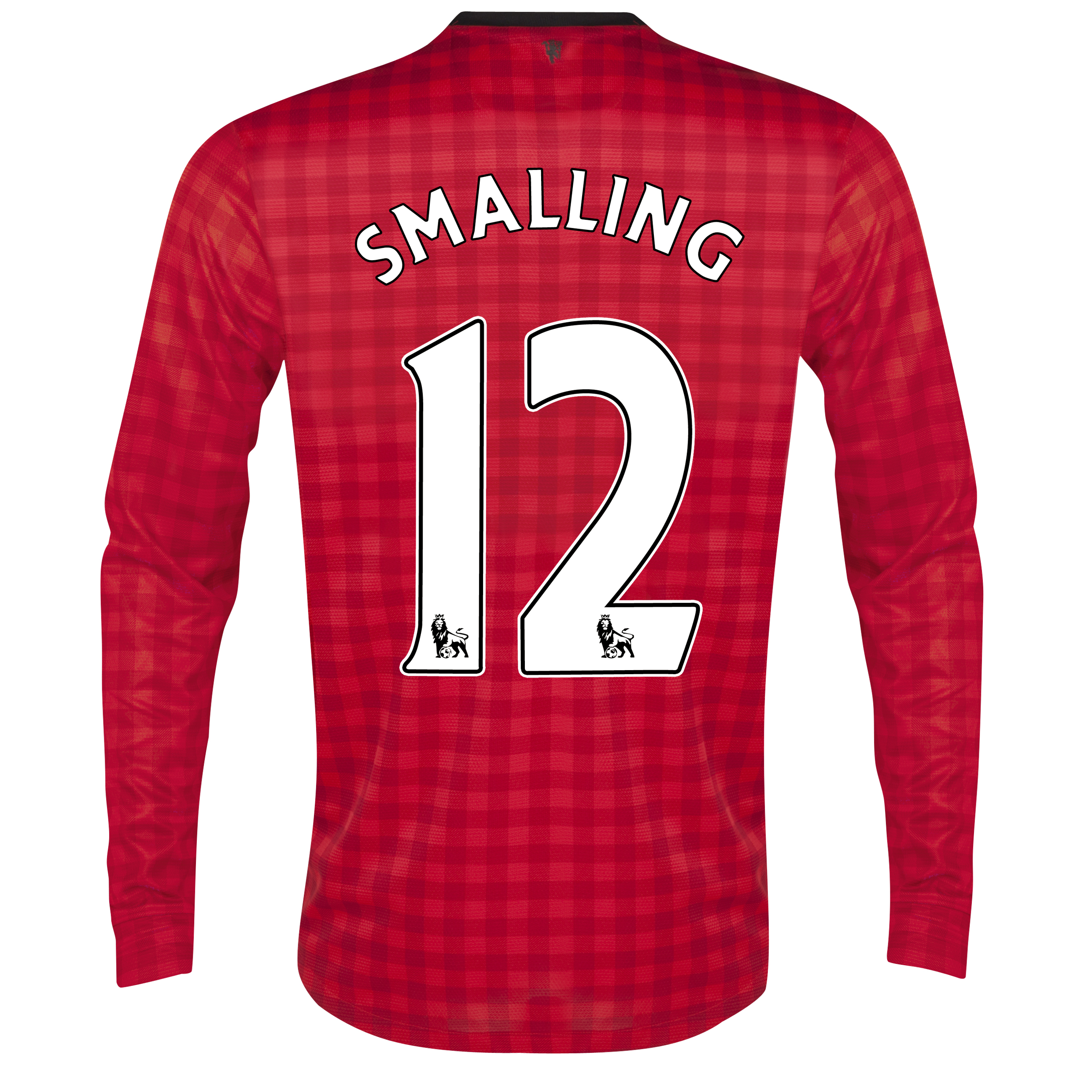 Manchester United Home Shirt 2012/13 - Long Sleeved with Smalling 12 printing