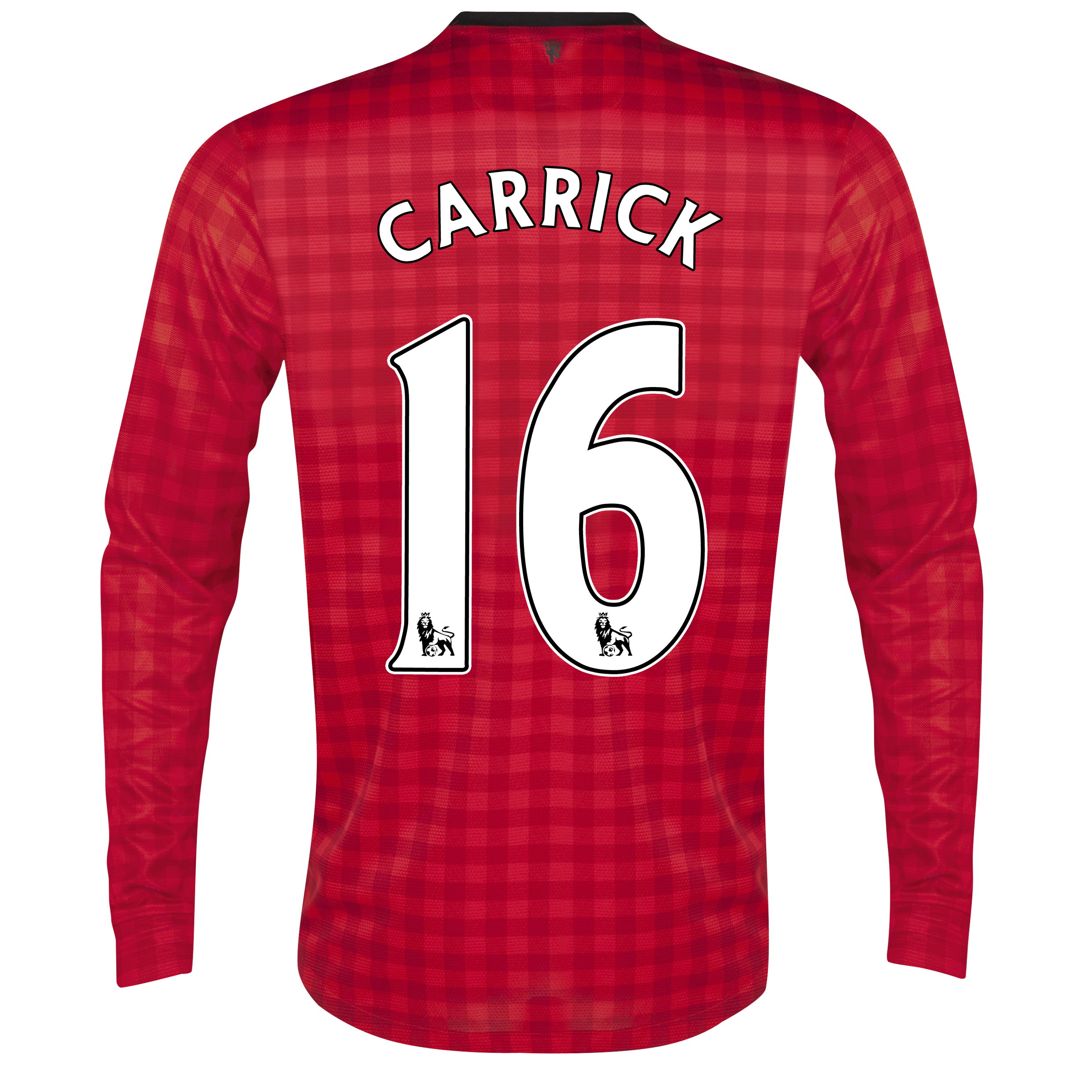 Manchester United Home Shirt 2012/13 - Long Sleeved with Carrick 16 printing