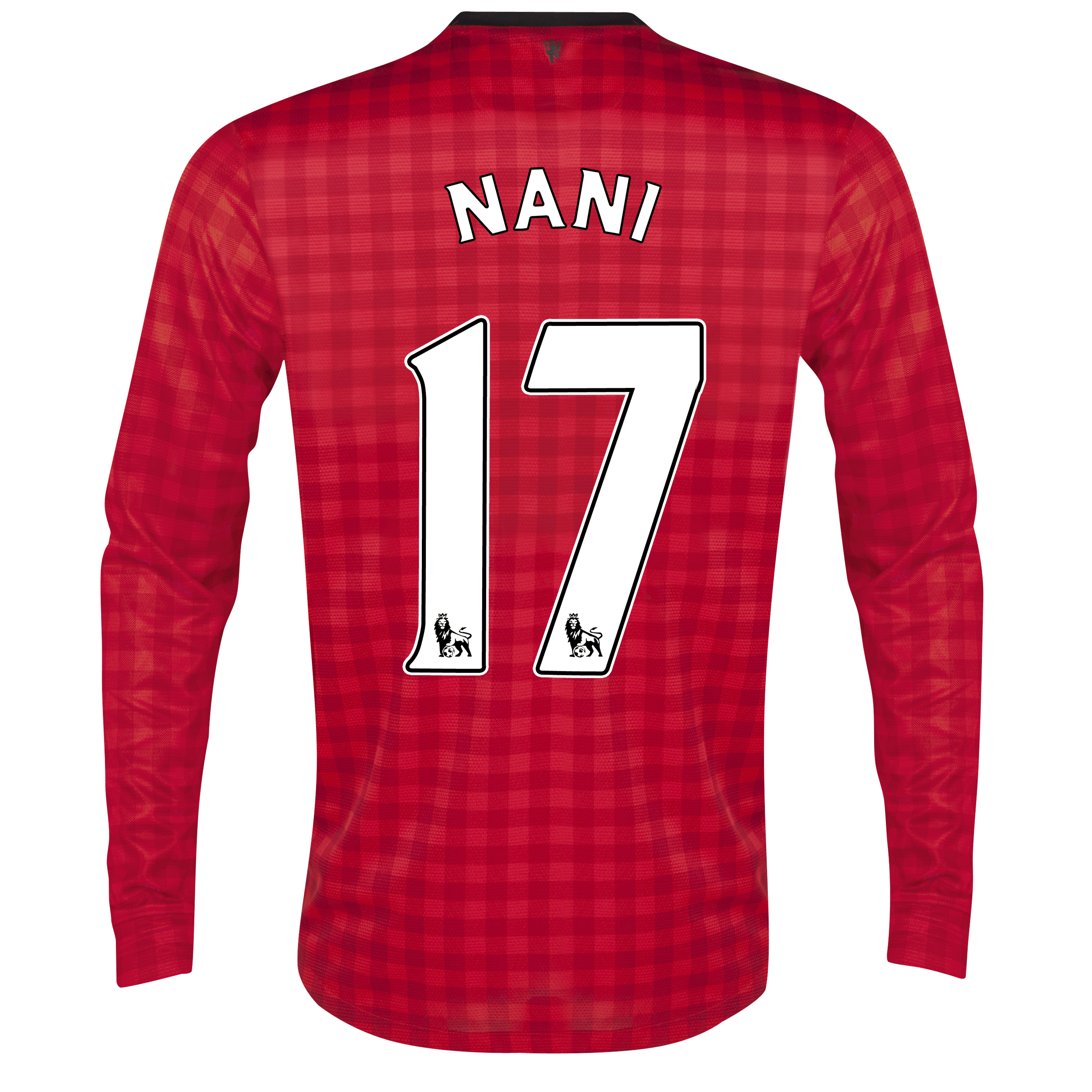 Manchester United Home Shirt 2012/13 - Long Sleeved with Nani 17 printing
