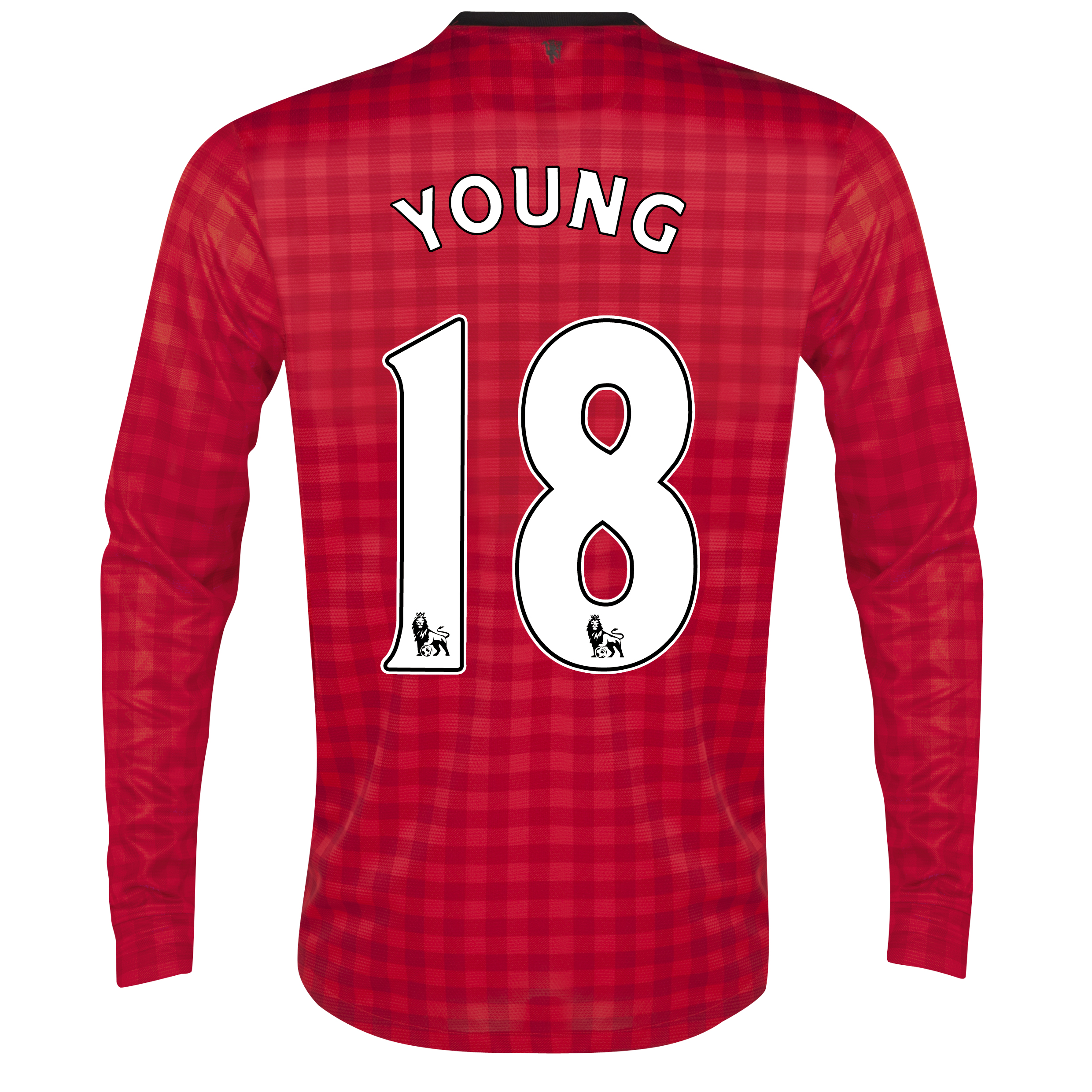Manchester United Home Shirt 2012/13 - Long Sleeved with Young 18 printing