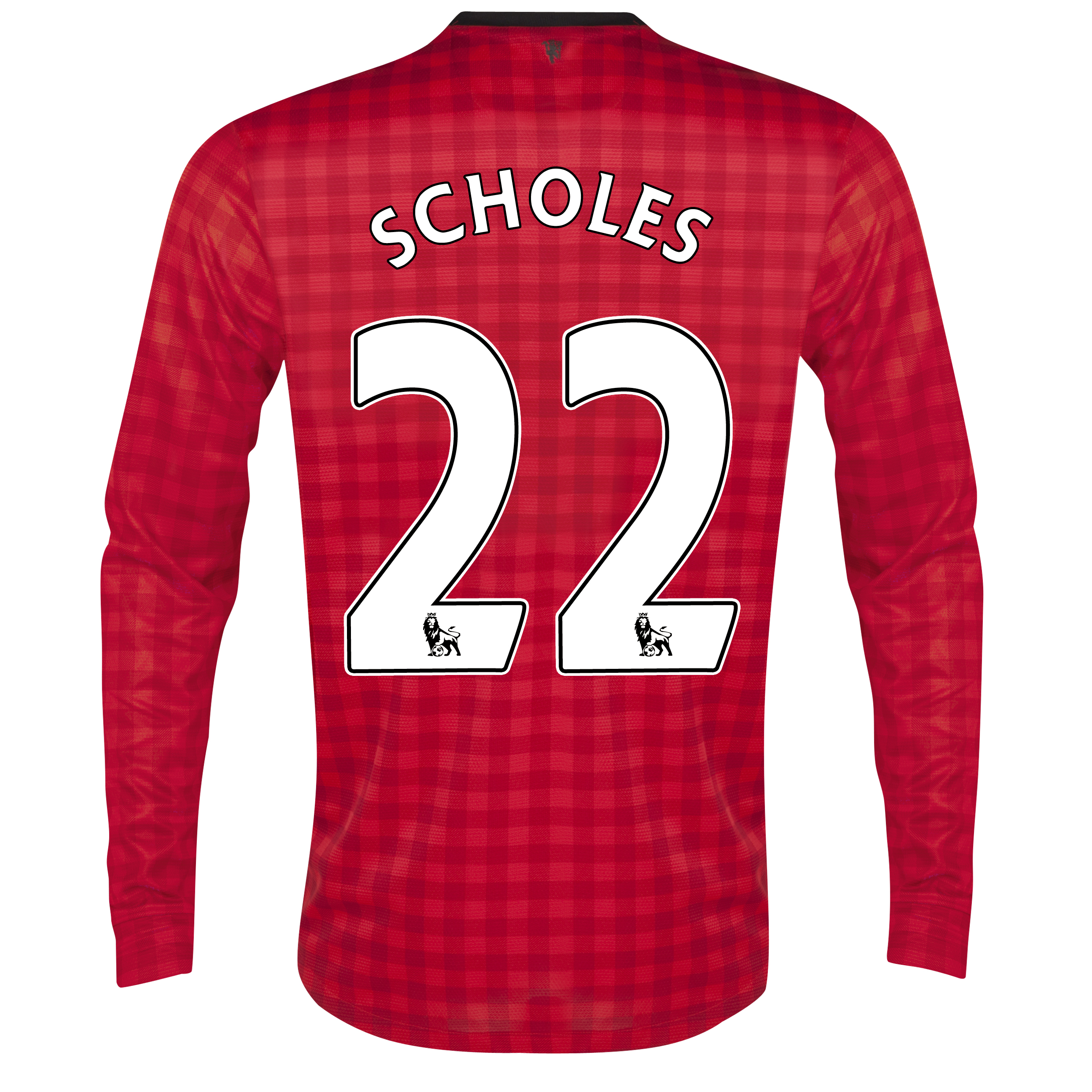 Manchester United Home Shirt 2012/13 - Long Sleeved with Scholes 22 printing