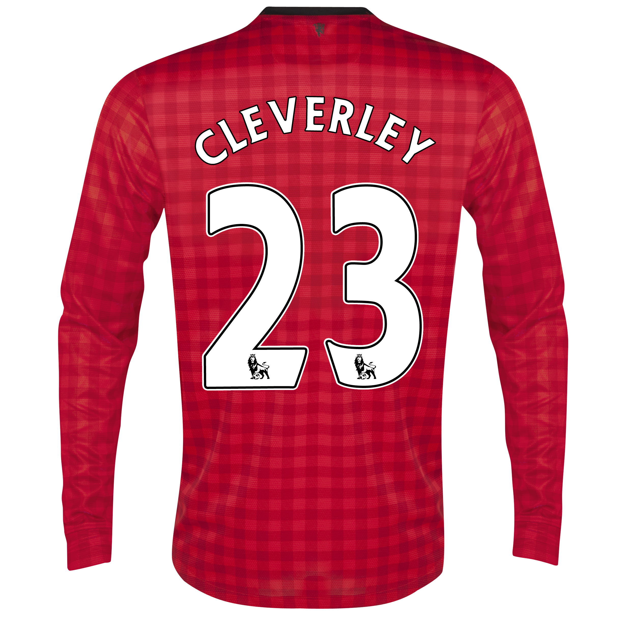 Manchester United Home Shirt 2012/13 - Long Sleeved with Cleverley 23 printing