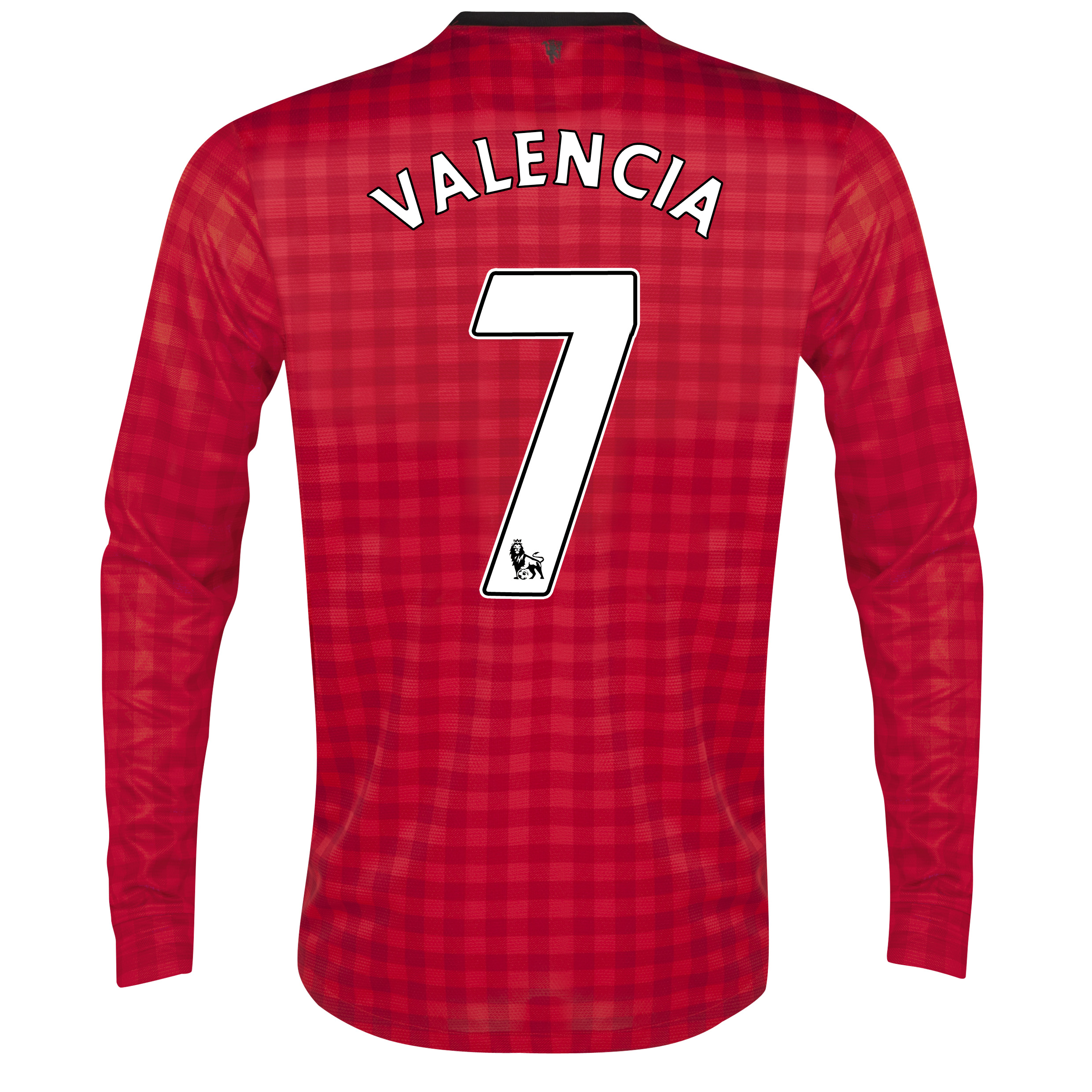 Manchester United Home Shirt 2012/13 - Long Sleeved with Valencia 7 printing