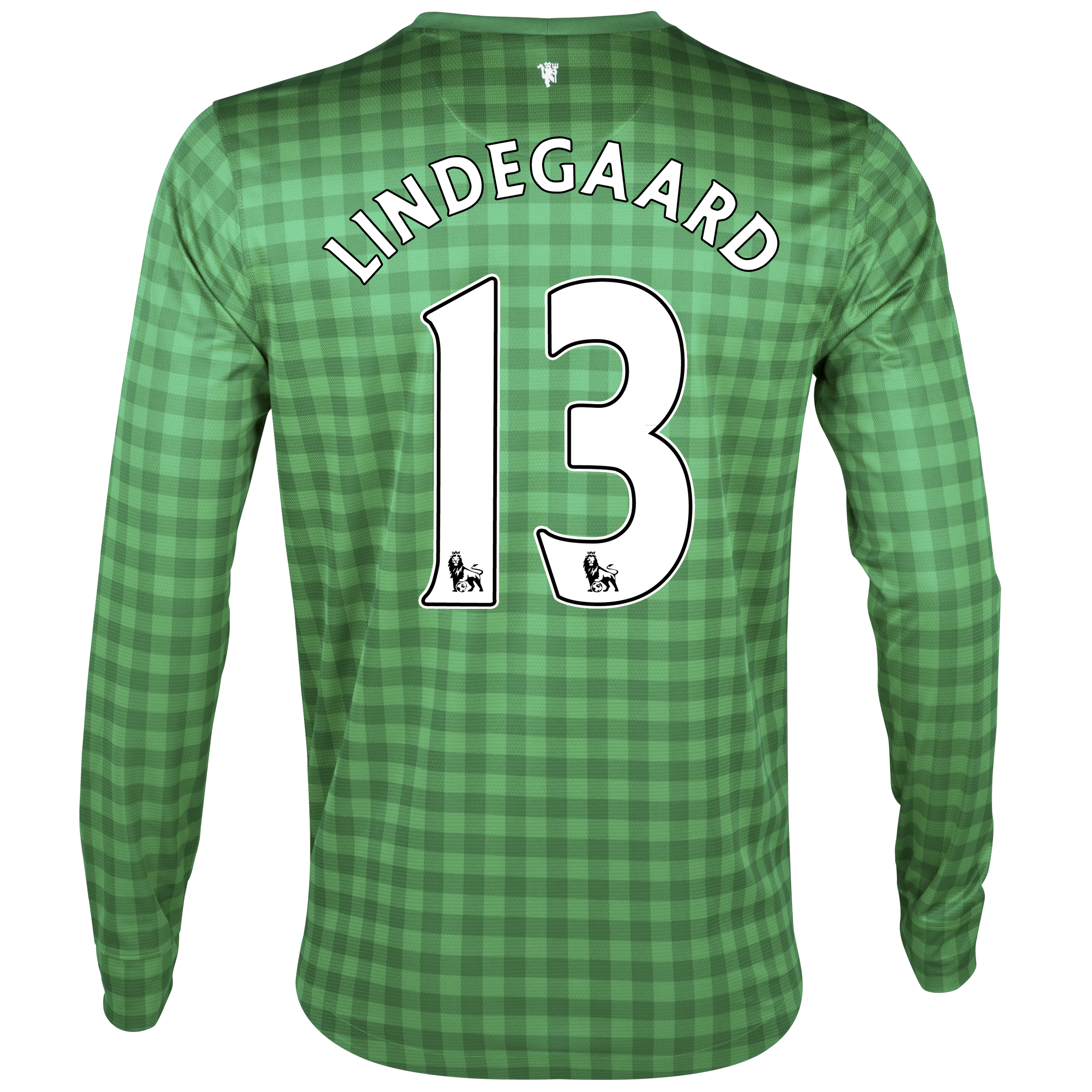 Manchester United Home Goalkeeper Shirt 2012/13 with Lindegaard 13 printing