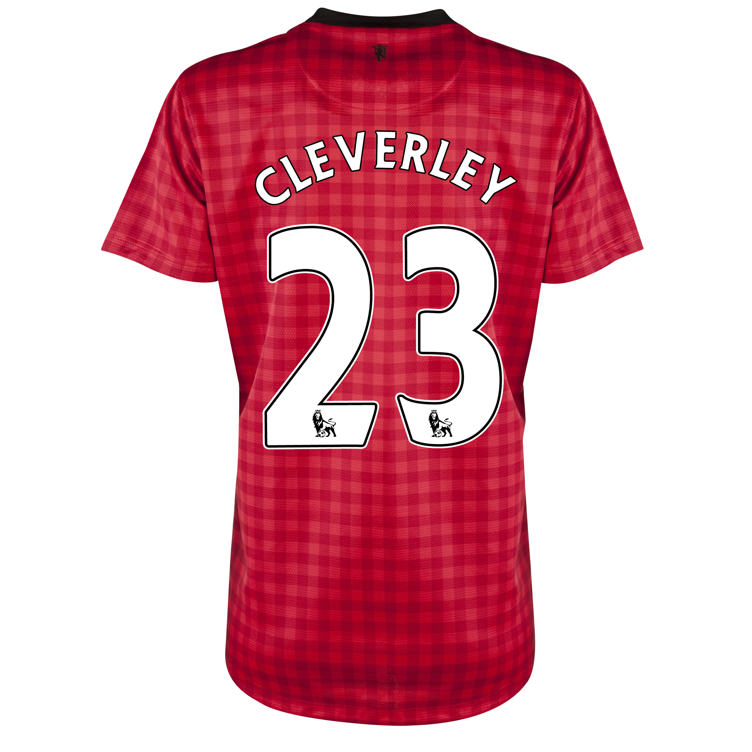 Manchester United Home Shirt 2012/13 - Womens with Cleverley 23 printing