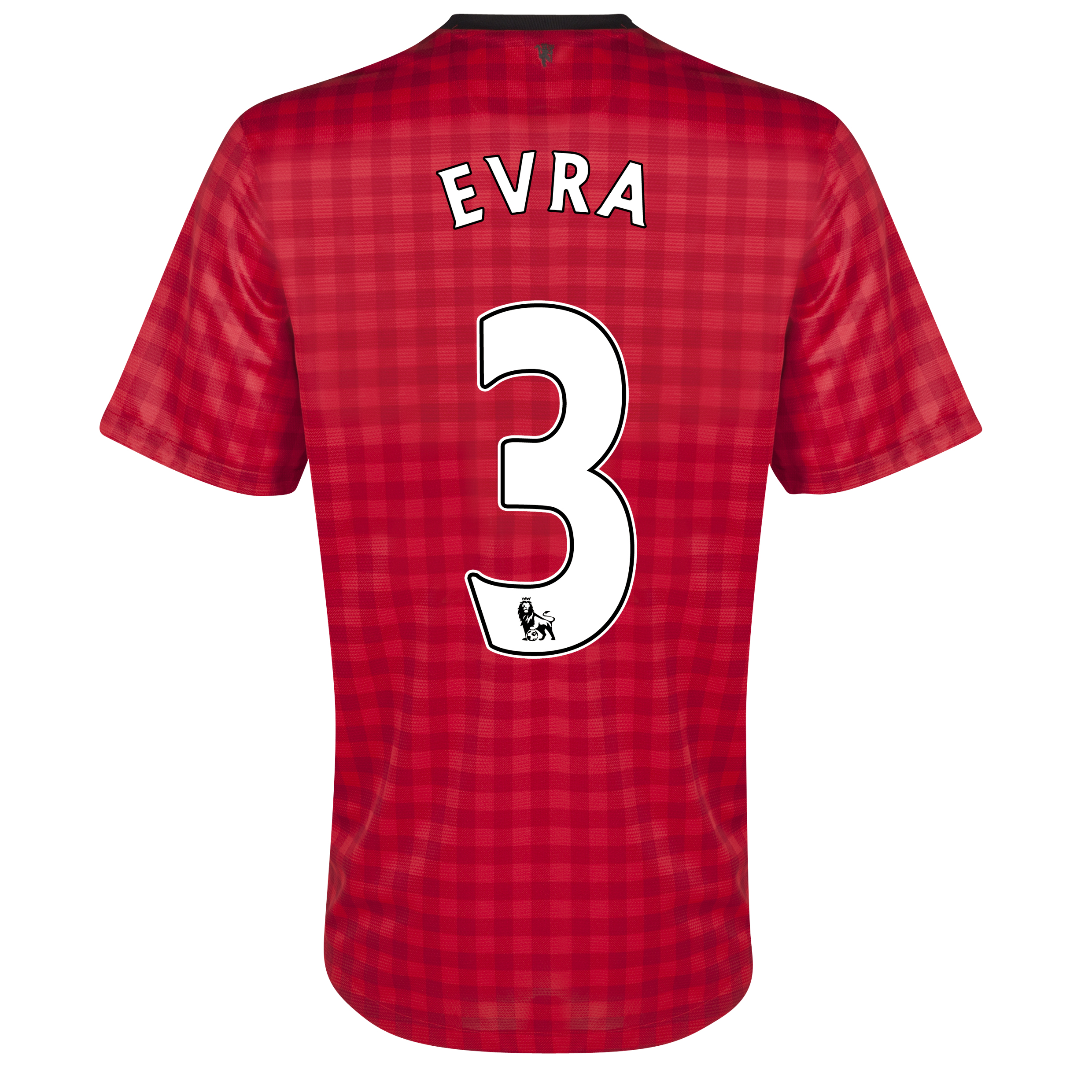 Manchester United Home Shirt 2012/13 - Kids with Evra 3 printing
