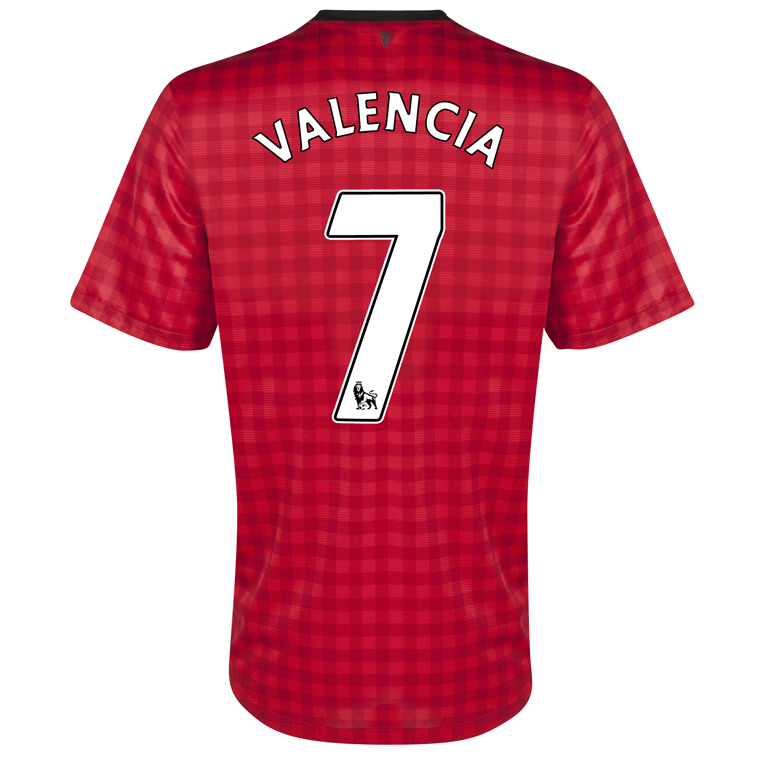 Manchester United Home Shirt 2012/13  - Youths with Valencia 7 printing