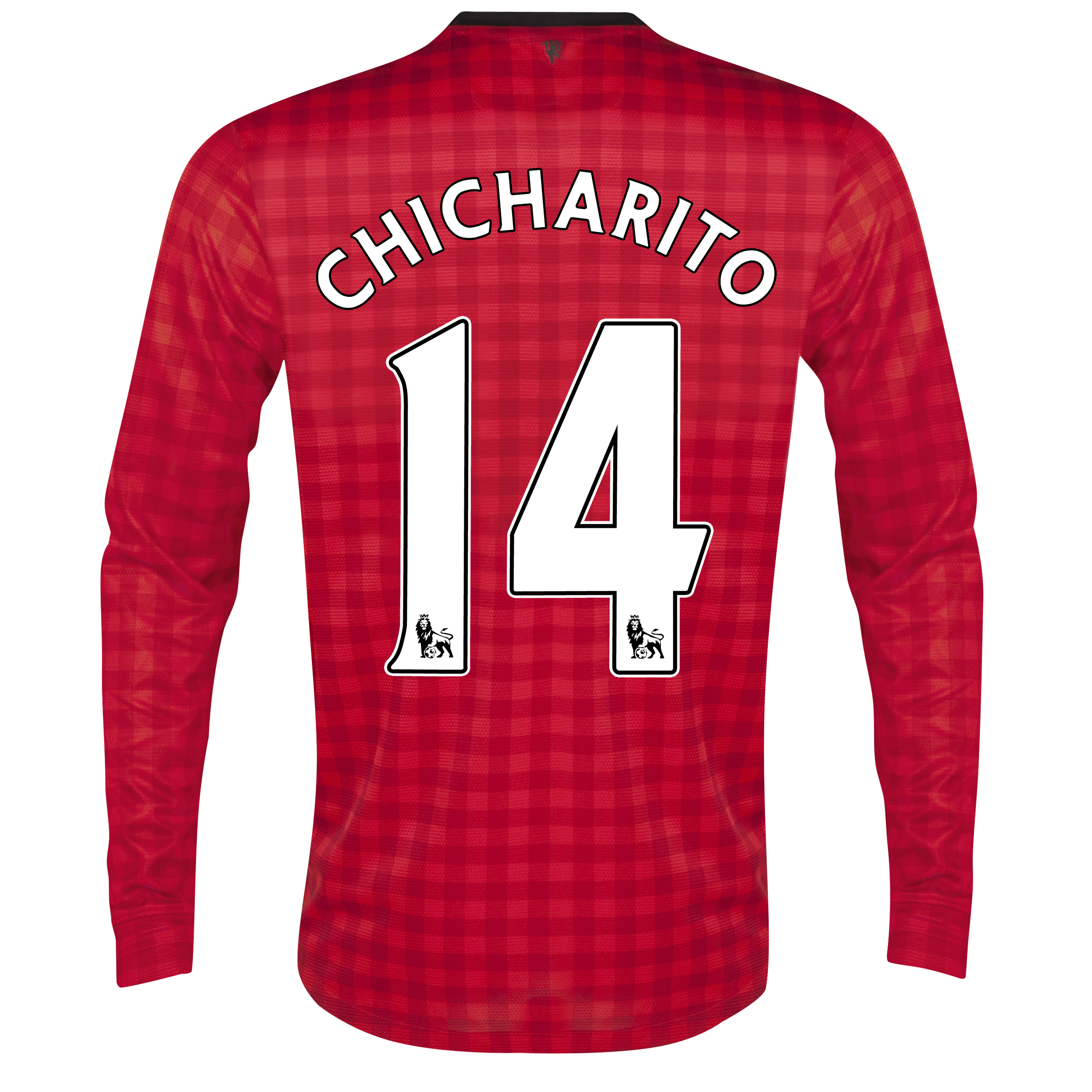 Manchester United Home Shirt 2012/13 - Long Sleeved  - Kids with Chicharito 14 printing