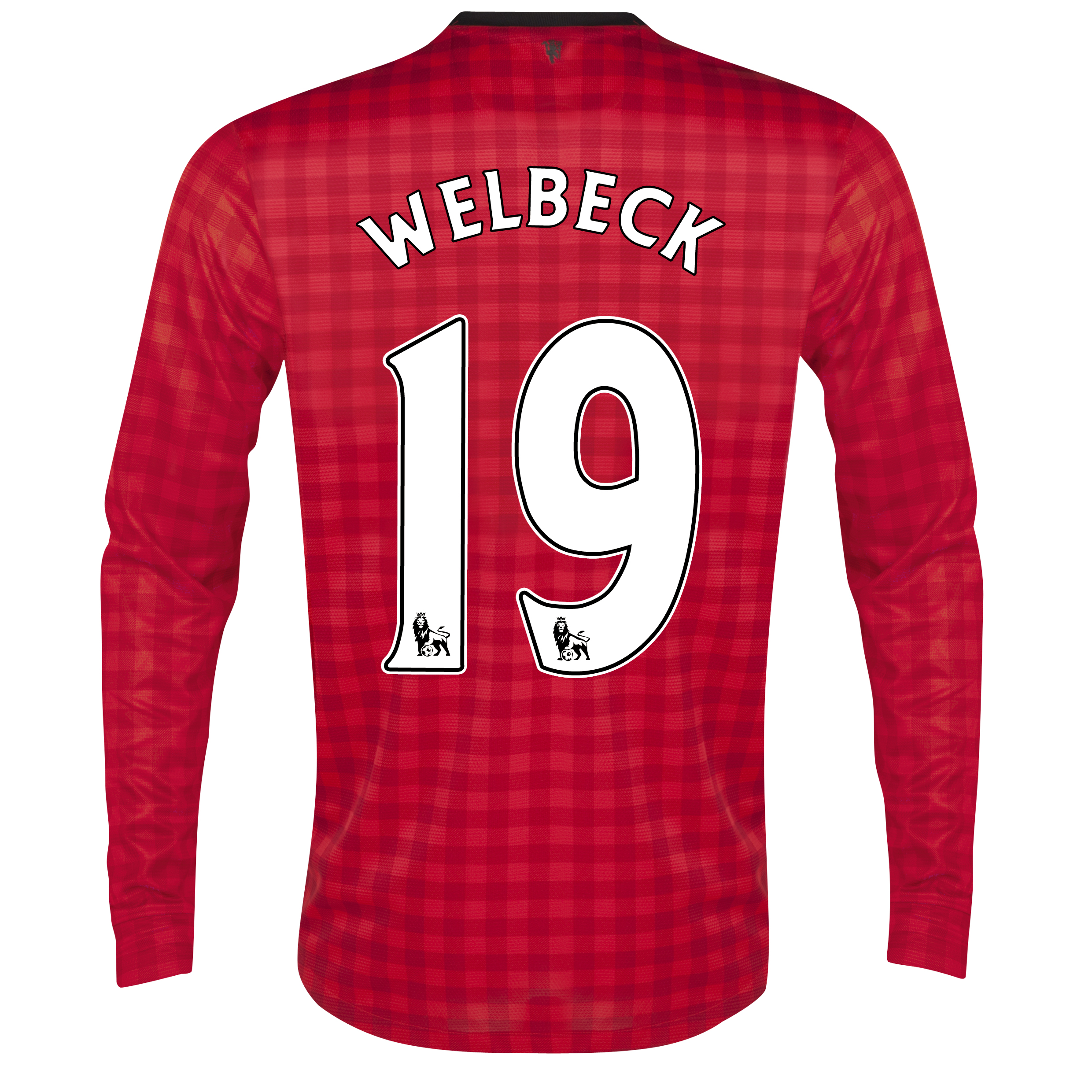 Manchester United Home Shirt 2012/13 - Long Sleeved  - Kids with Welbeck 19 printing