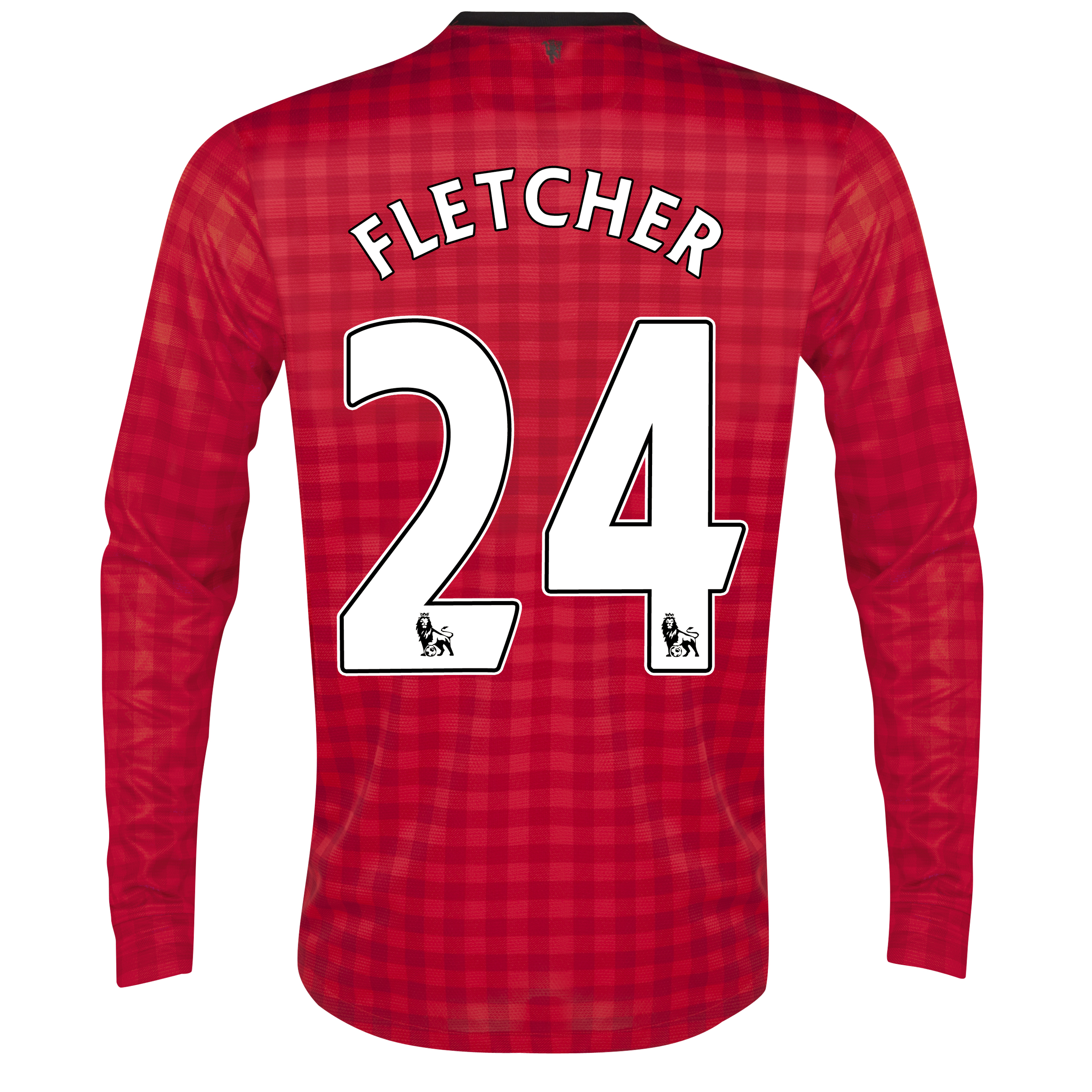 Manchester United Home Shirt 2012/13 - Long Sleeved  - Kids with Fletcher 24 printing