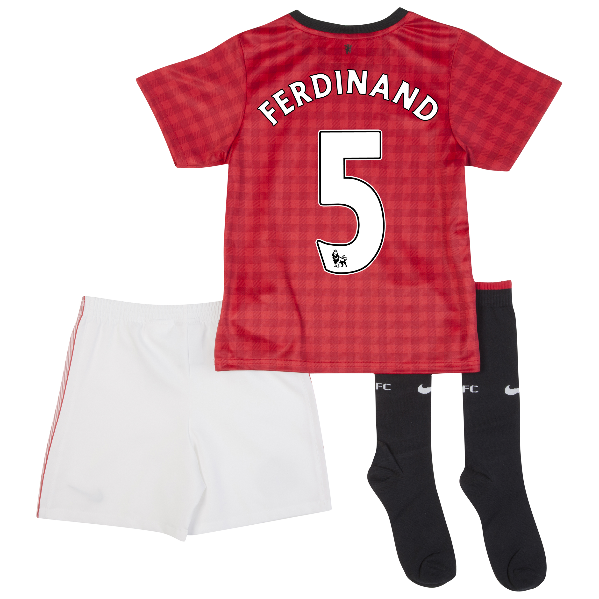 Manchester United Home Kit 2012/13 -  Little Boys with Ferdinand 5 printing