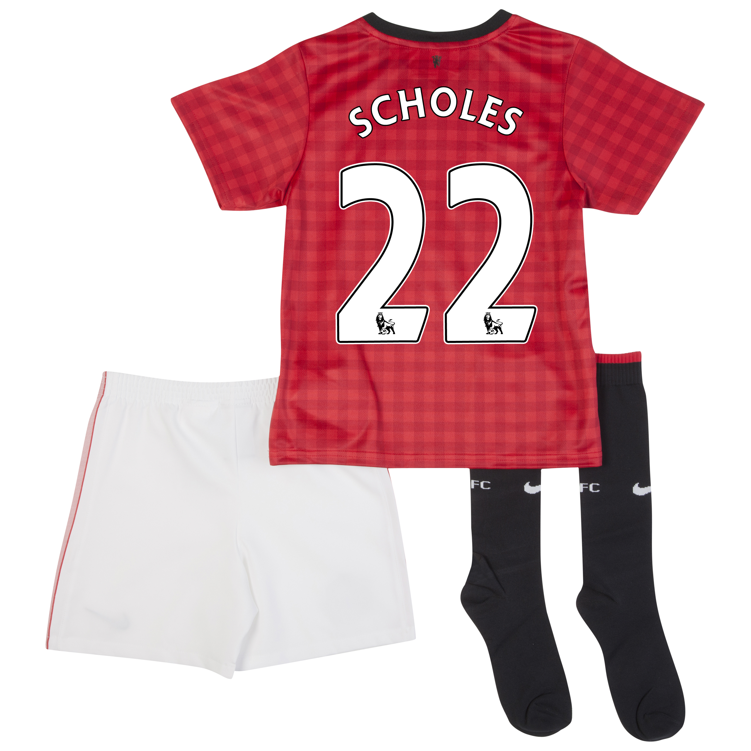 Manchester United Home Kit 2012/13 -  Little Boys with Scholes 22 printing