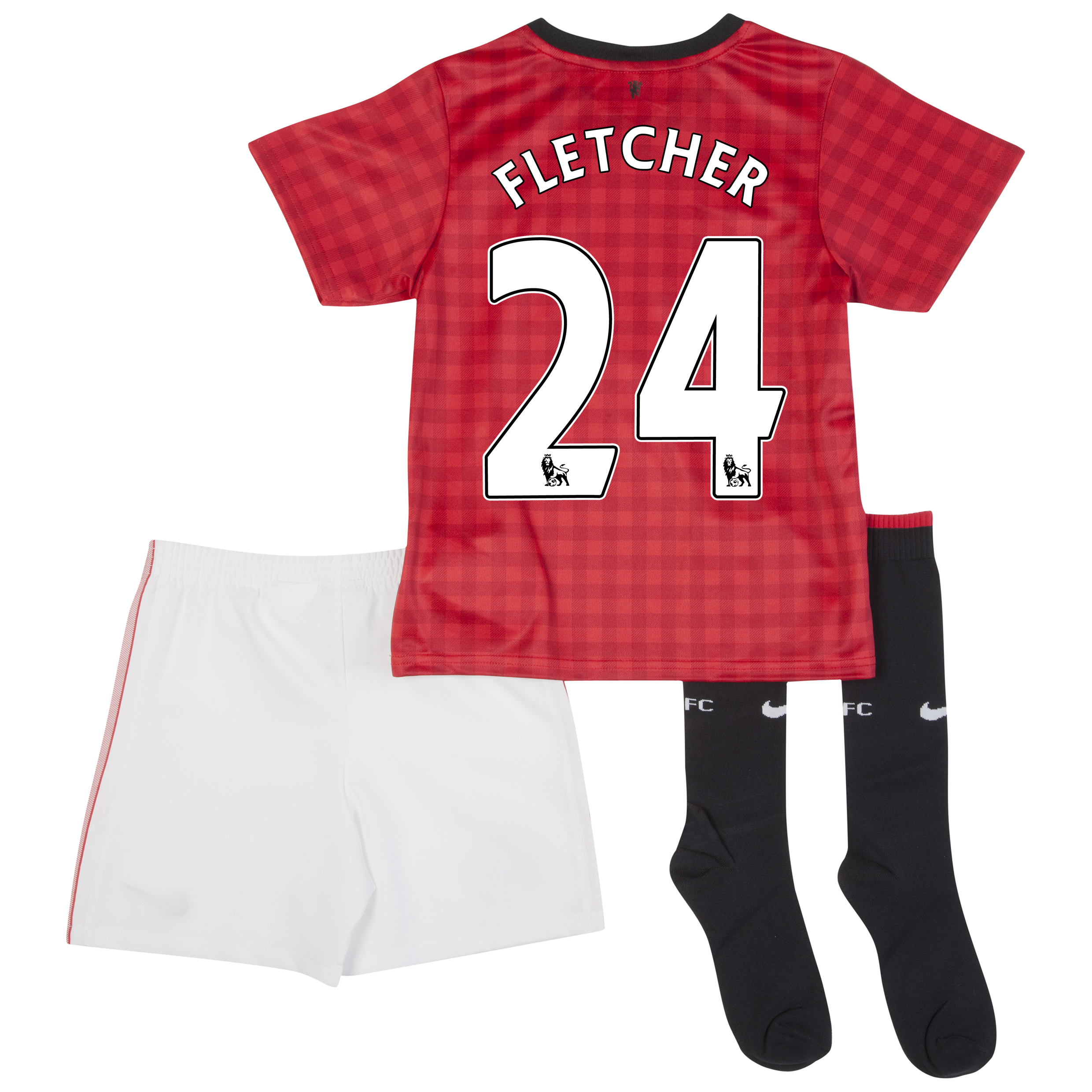 Manchester United Home Kit 2012/13 -  Little Boys with Fletcher 24 printing