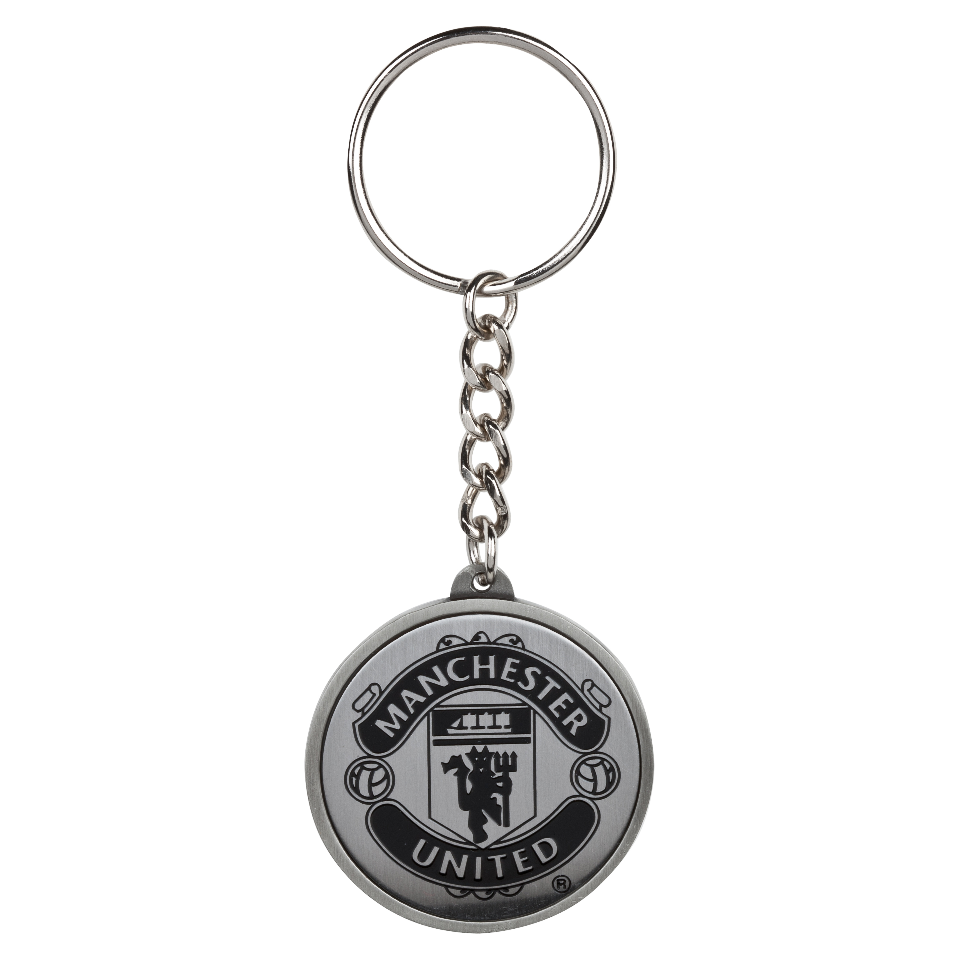 Manchester United Pewter Football Keyring