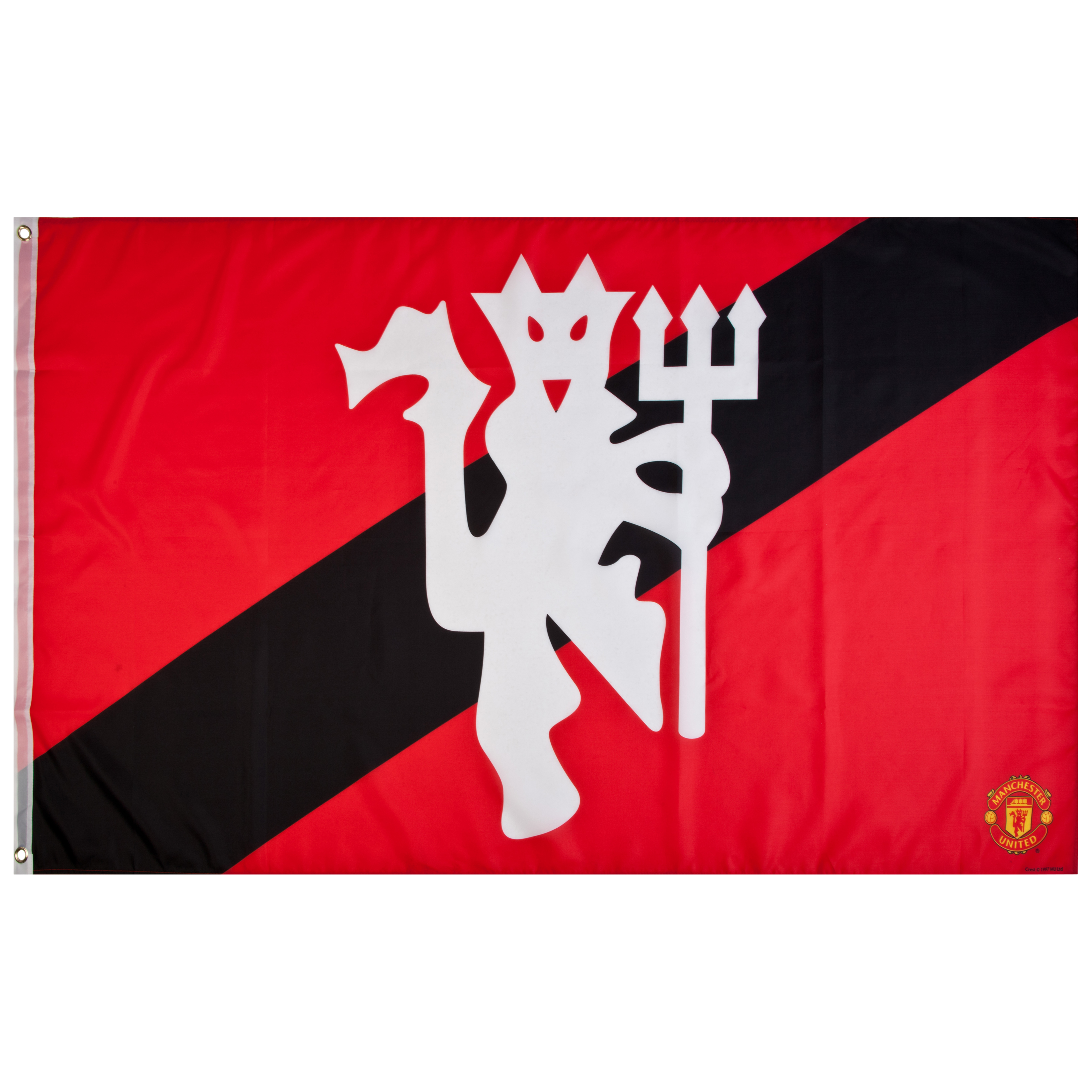 Manchester United Devil Stripe Flag - 5 x 3 Ft