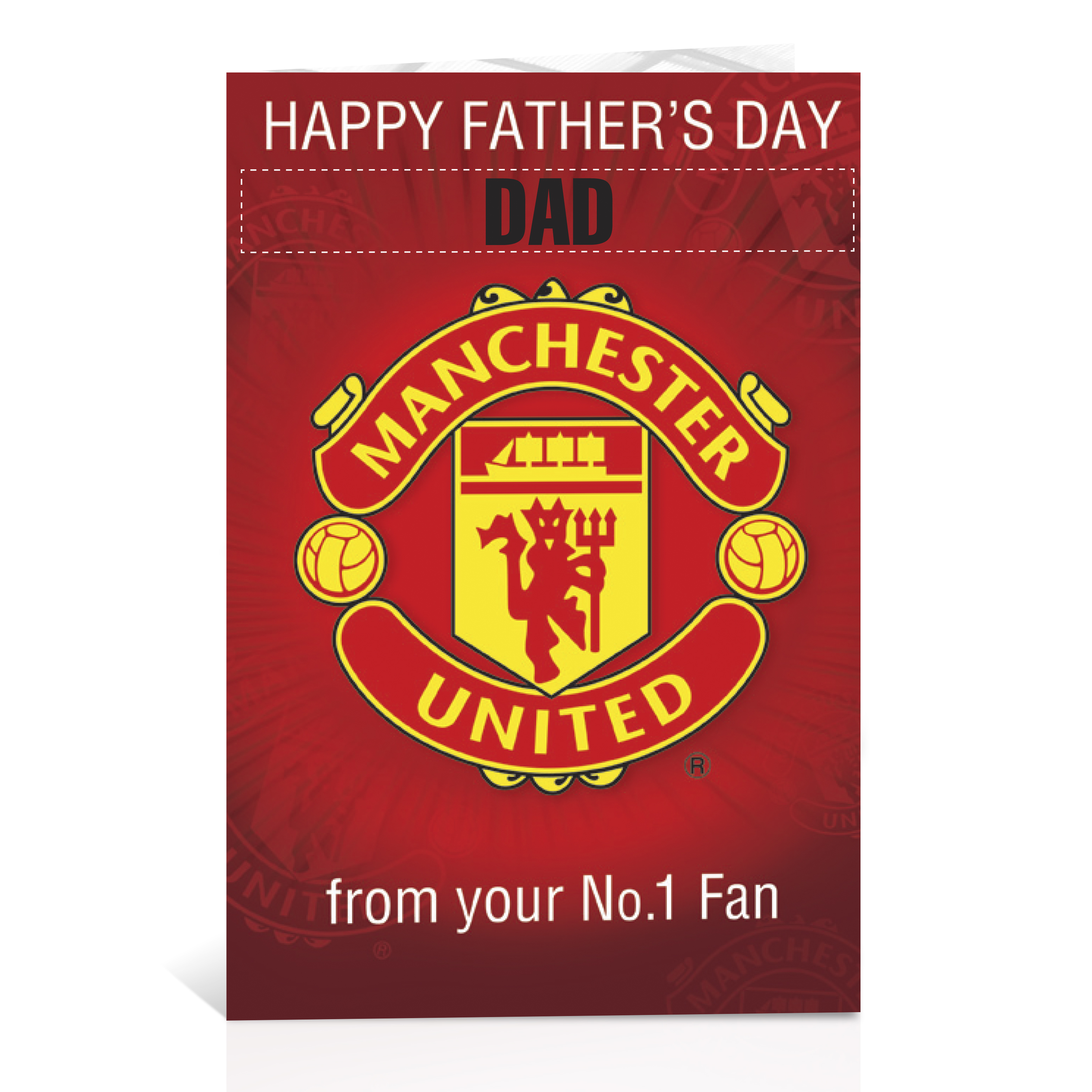 Manchester United Personalised Fathers Day Card