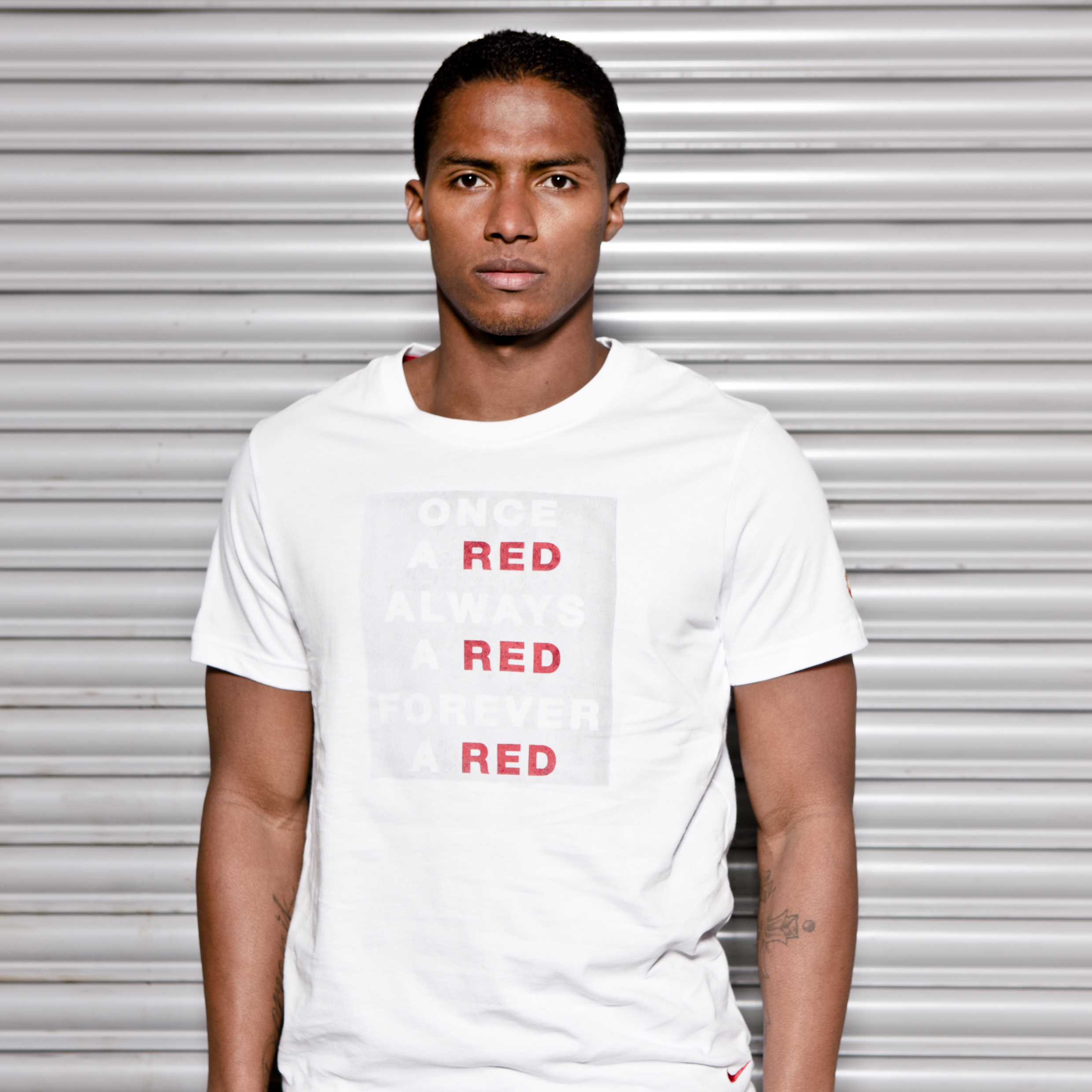 Manchester United Core T-Shirt - White/Diablo Red