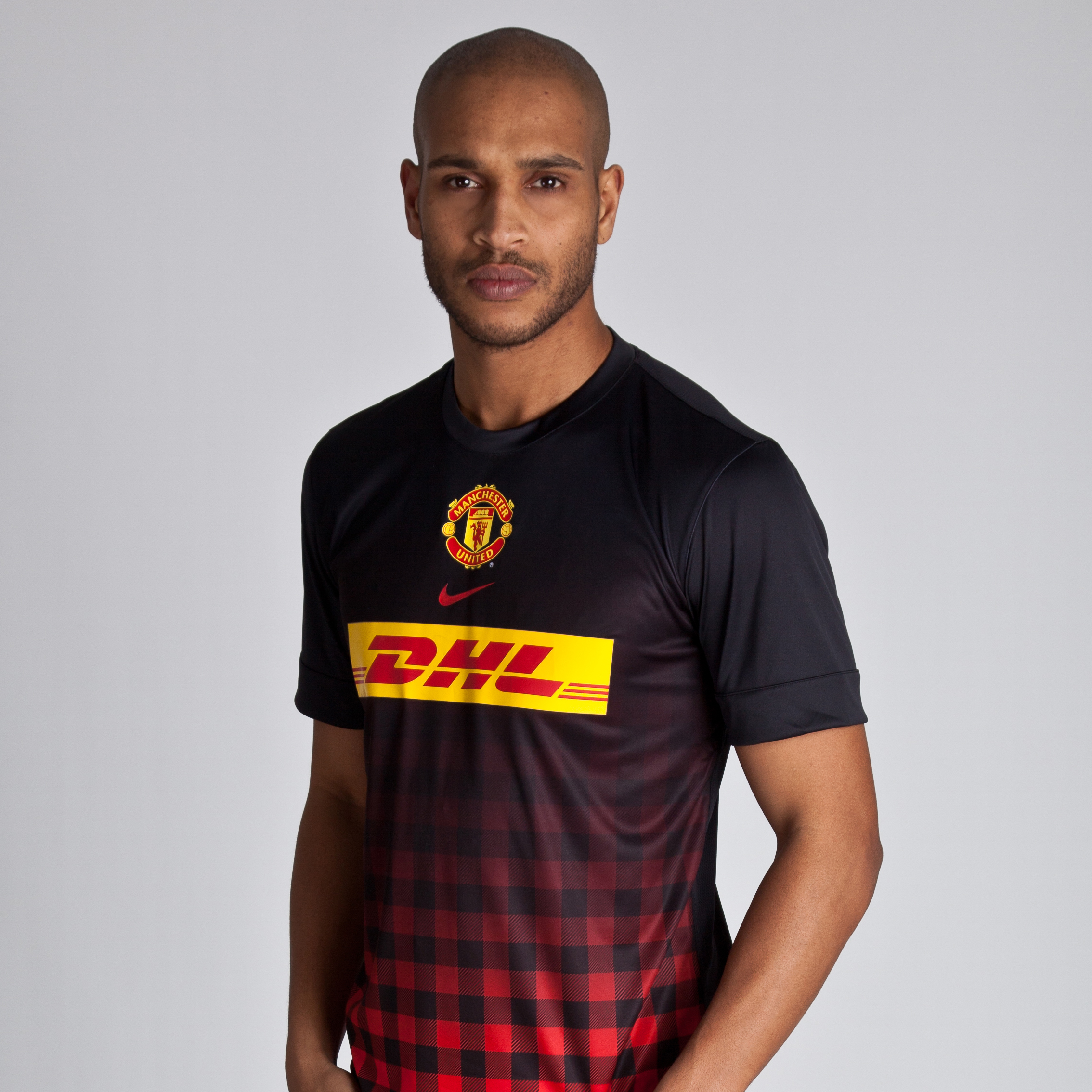 Manchester United Prematch Top II - Black/Challenge Red