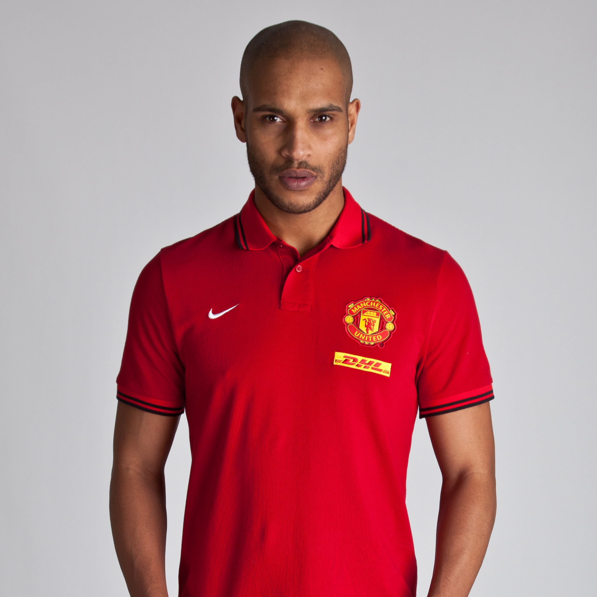 Manchester United Authentic Grandslam Polo - DHL - Gym Red/University Red/White
