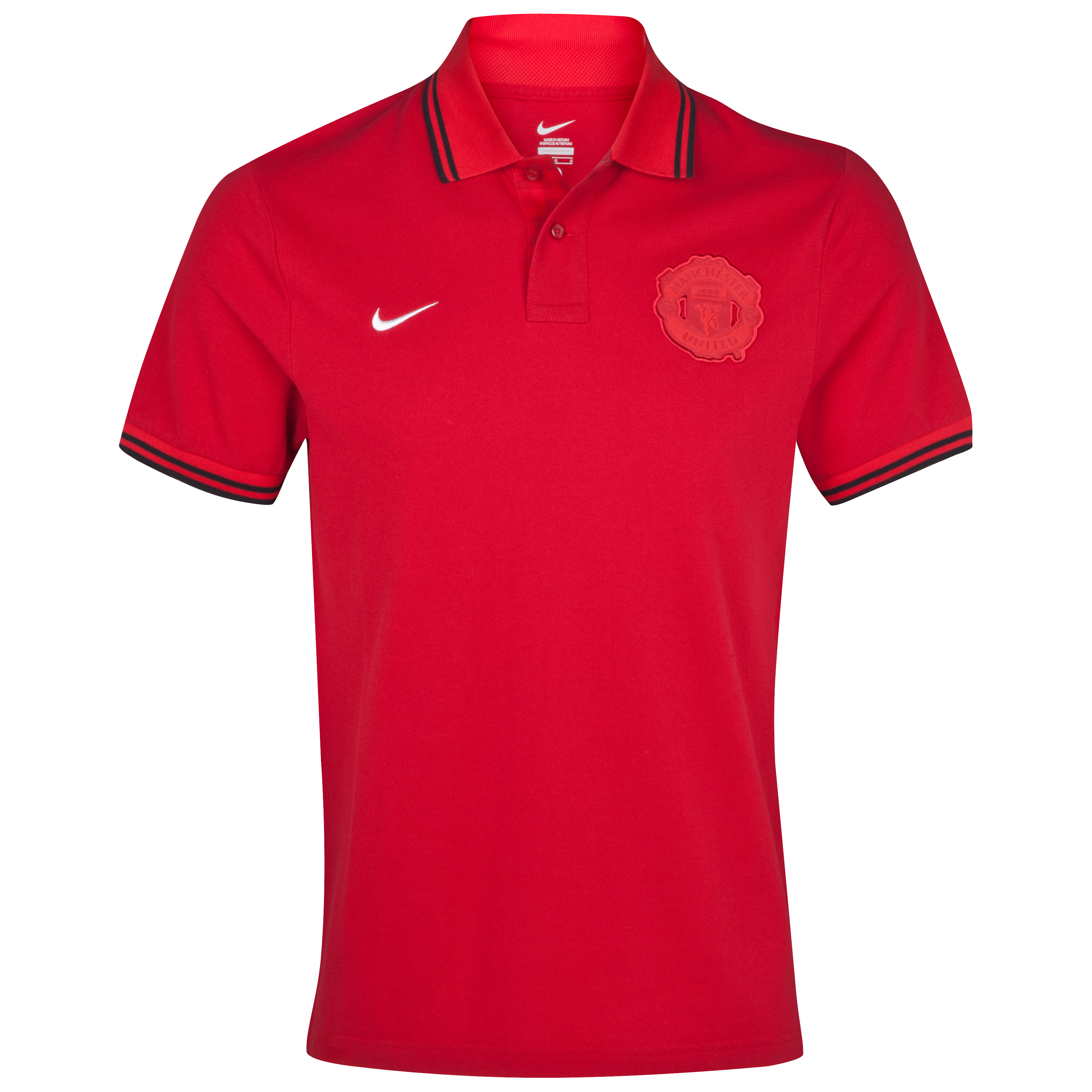 Manchester United Authentic Grandslam Polo - Gym Red/University Red/Black/White