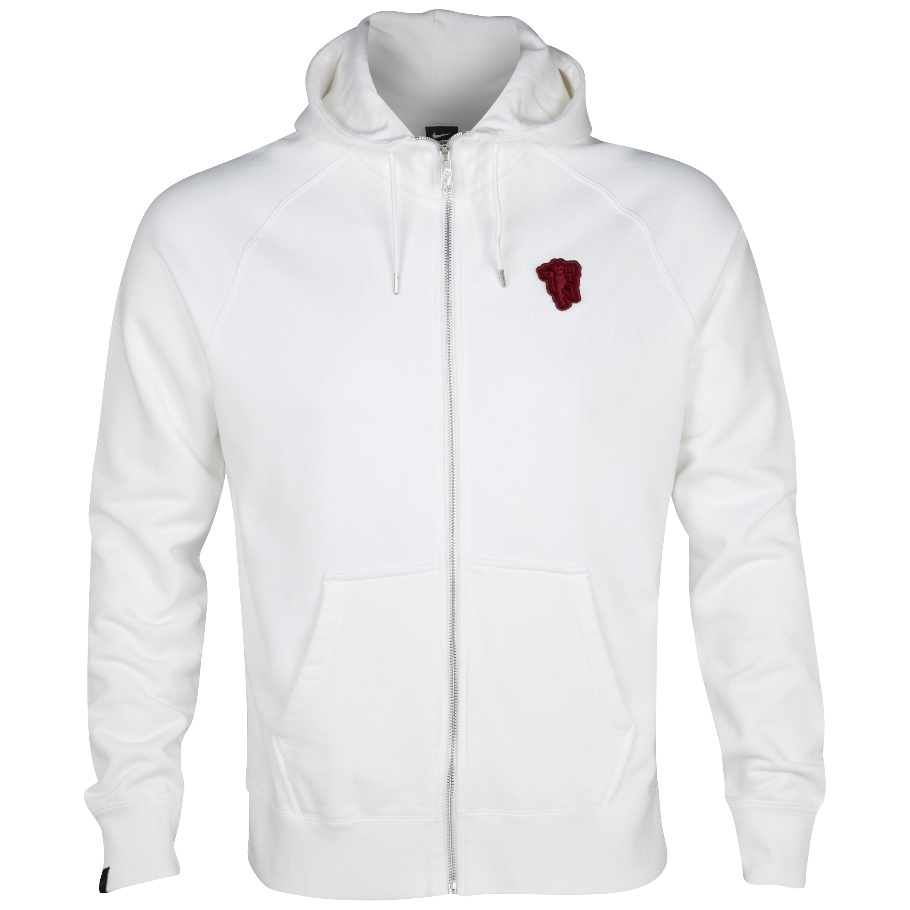 Manchester United AW77 Full Zip Hoodie - White