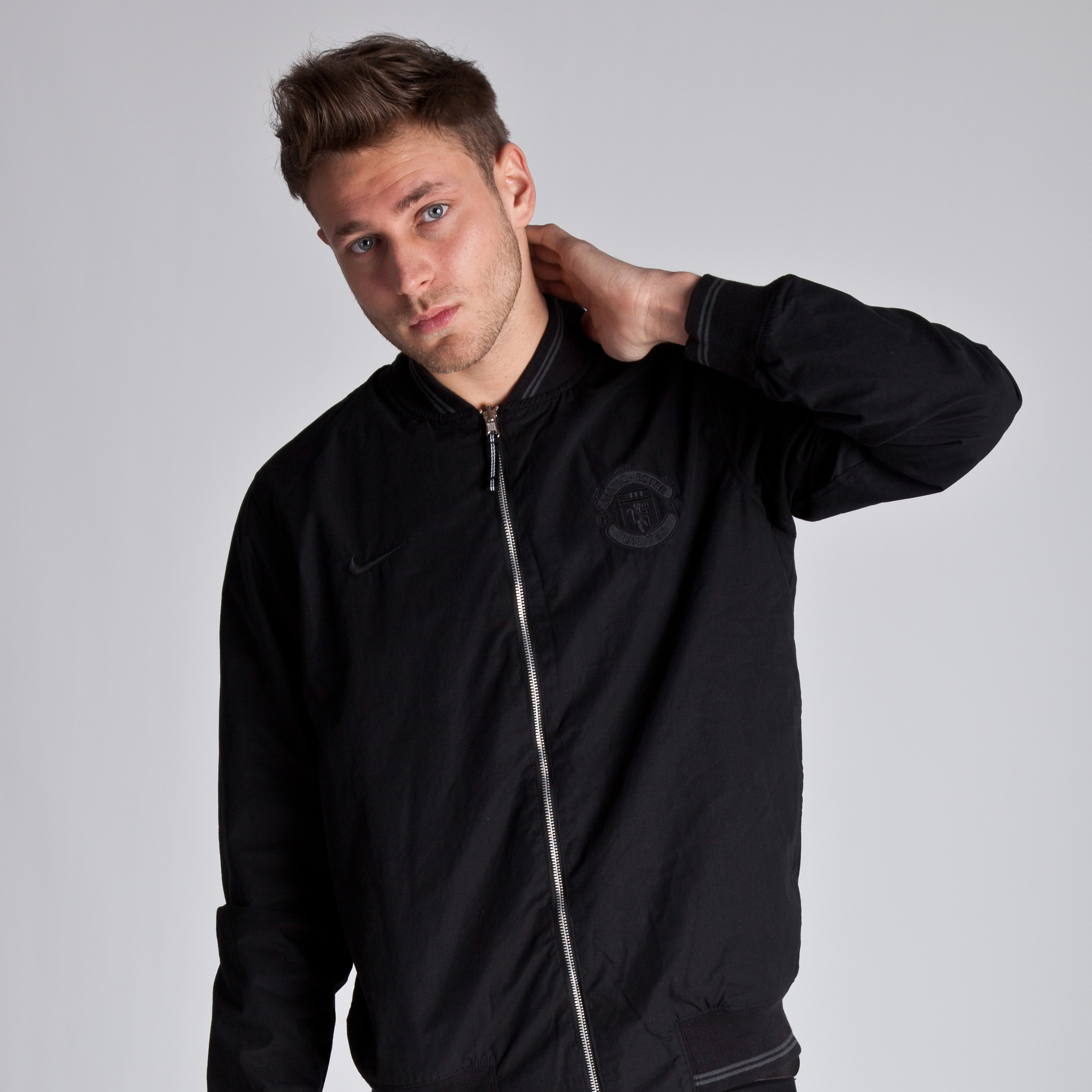 Manchester United Reversible Jacket - Black/Black/Black