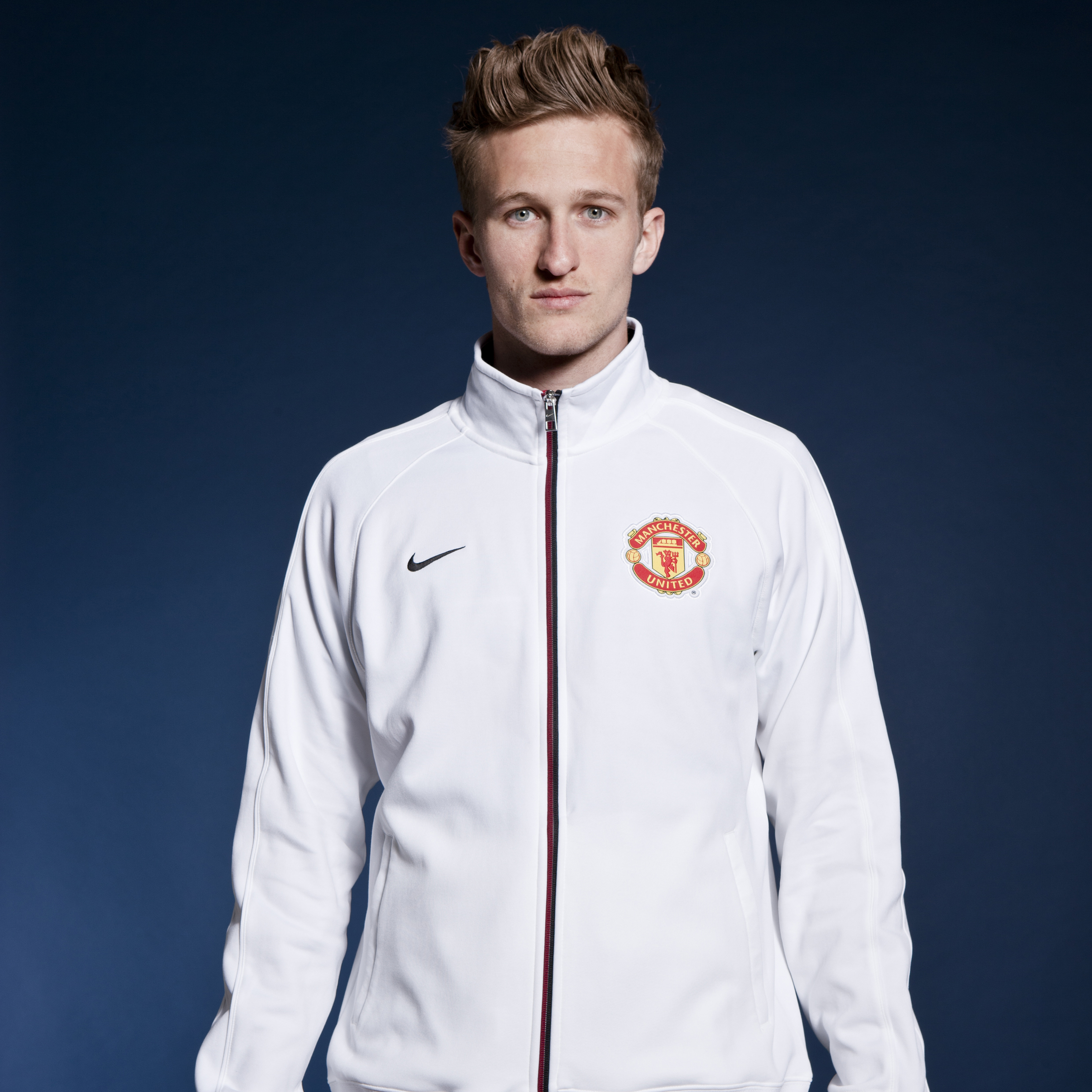 Manchester United Core Trainer Jacket - White/White/Black