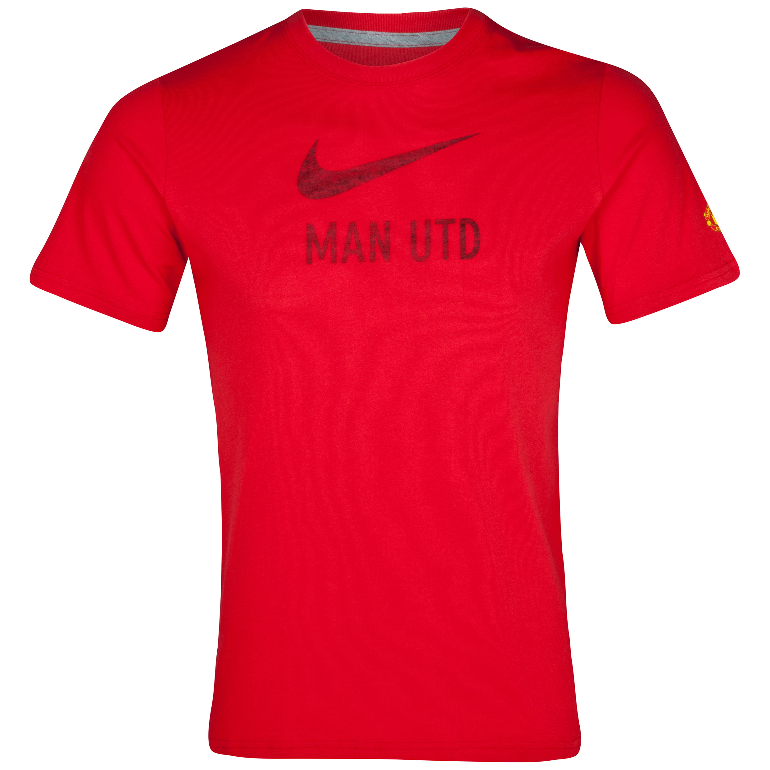 Manchester United Basic T-Shirt - Diablo Red/Dk Grey Heather - Kids