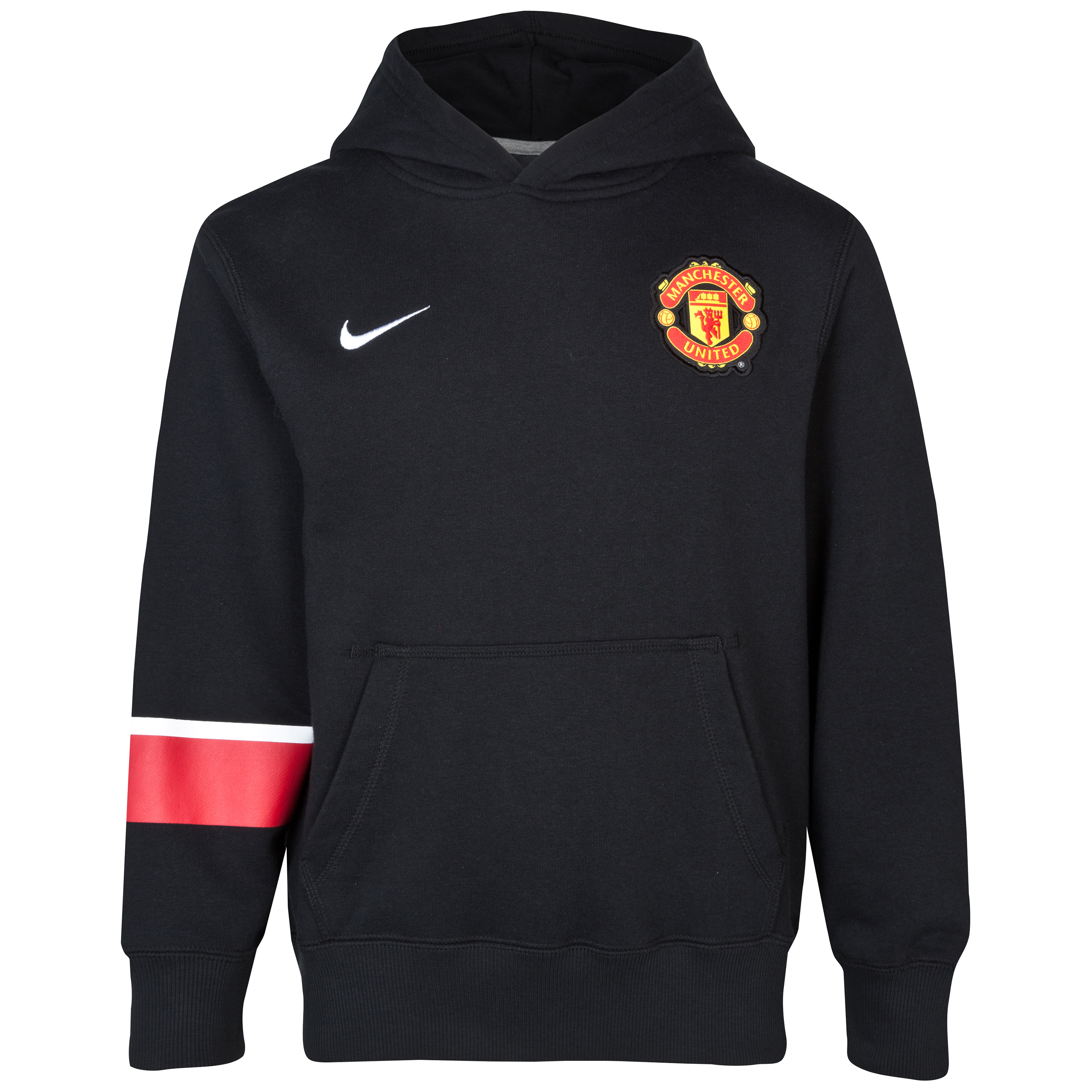 Manchester United Core Hoodie - Kids - Black/Black/White