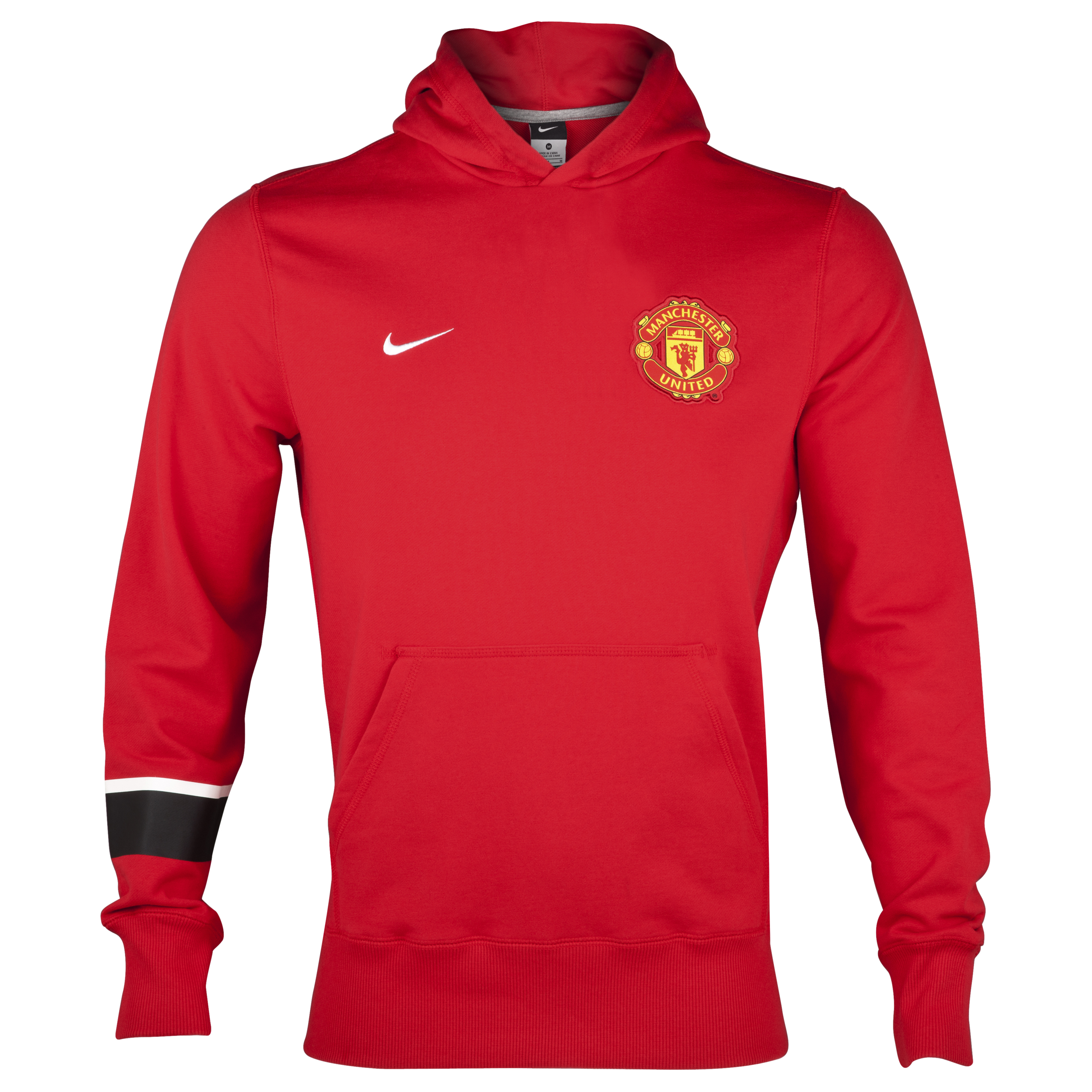 Manchester United Core Hoodie - Diablo Red/Diablo Red/White - Kids