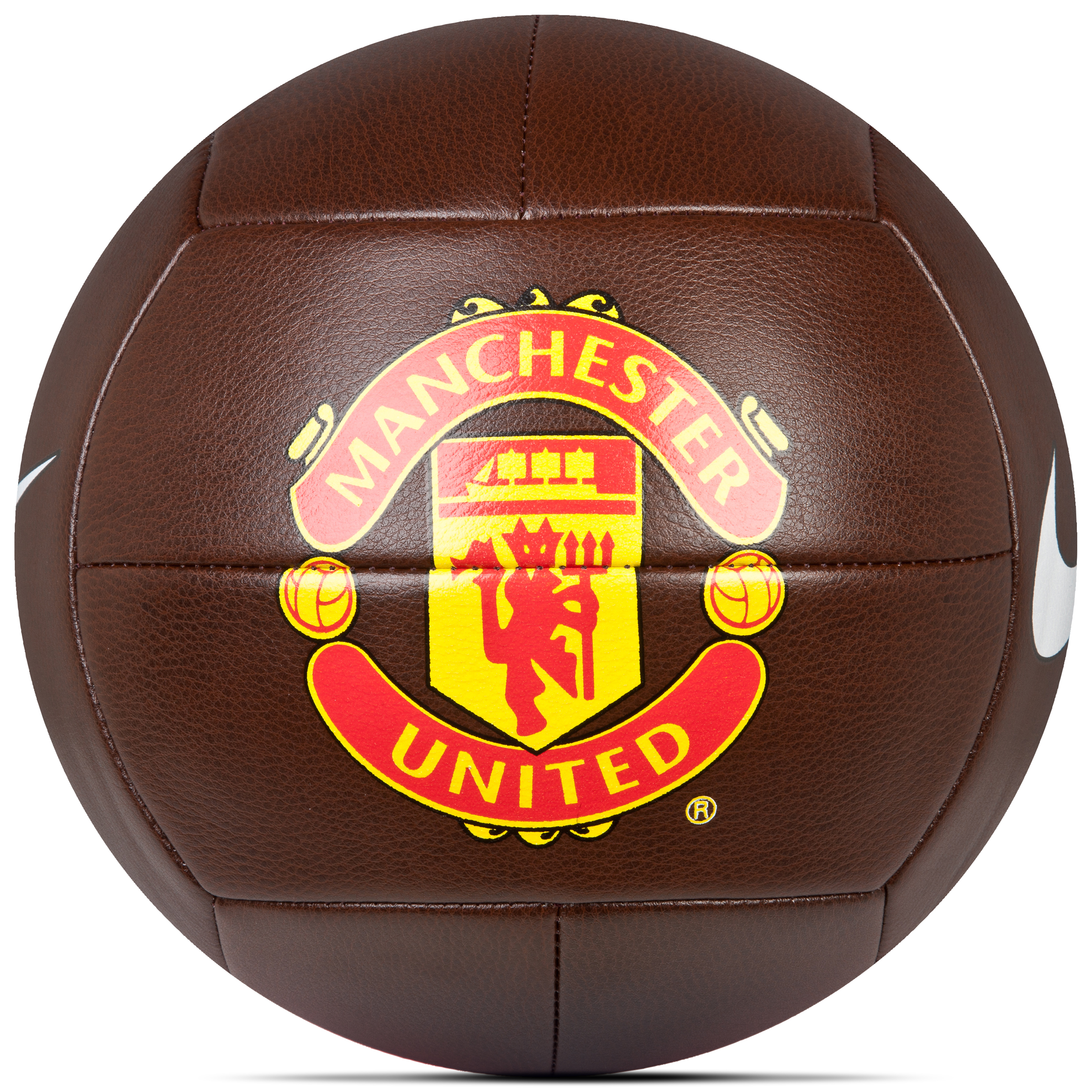 Manchester United Prestige Size 5 Football - Brown/Red/(Black)