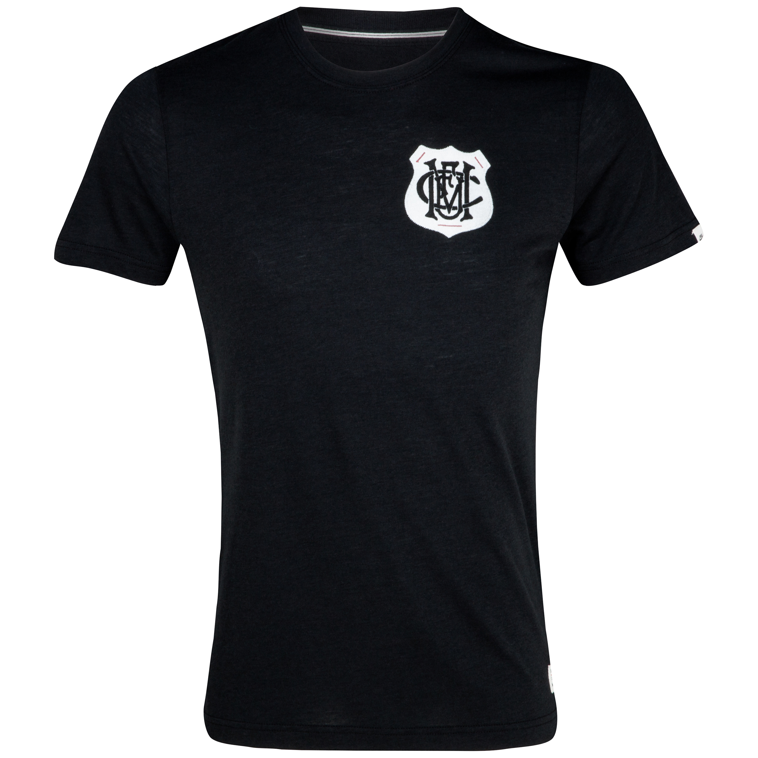 Manchester United Covert Vintage Tri Blend T-Shirt - Black